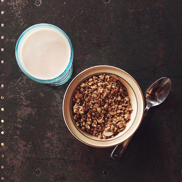 Have you heard the news? We've brought our House Made Almond Milk to Provo! Looking for a quick morning bite? Try our Almond Milk with our Almond Granola! Then chase it with one of our delicious #almondmilk lattes to get you through your day! #housemade #ruggedgrounds #almond #provo #downtownprovo #granola #breakfast #utah #provoeats #coffeeshop #utahcoffeeshop #provocoffee #coffee #latte #shop #localbusiness