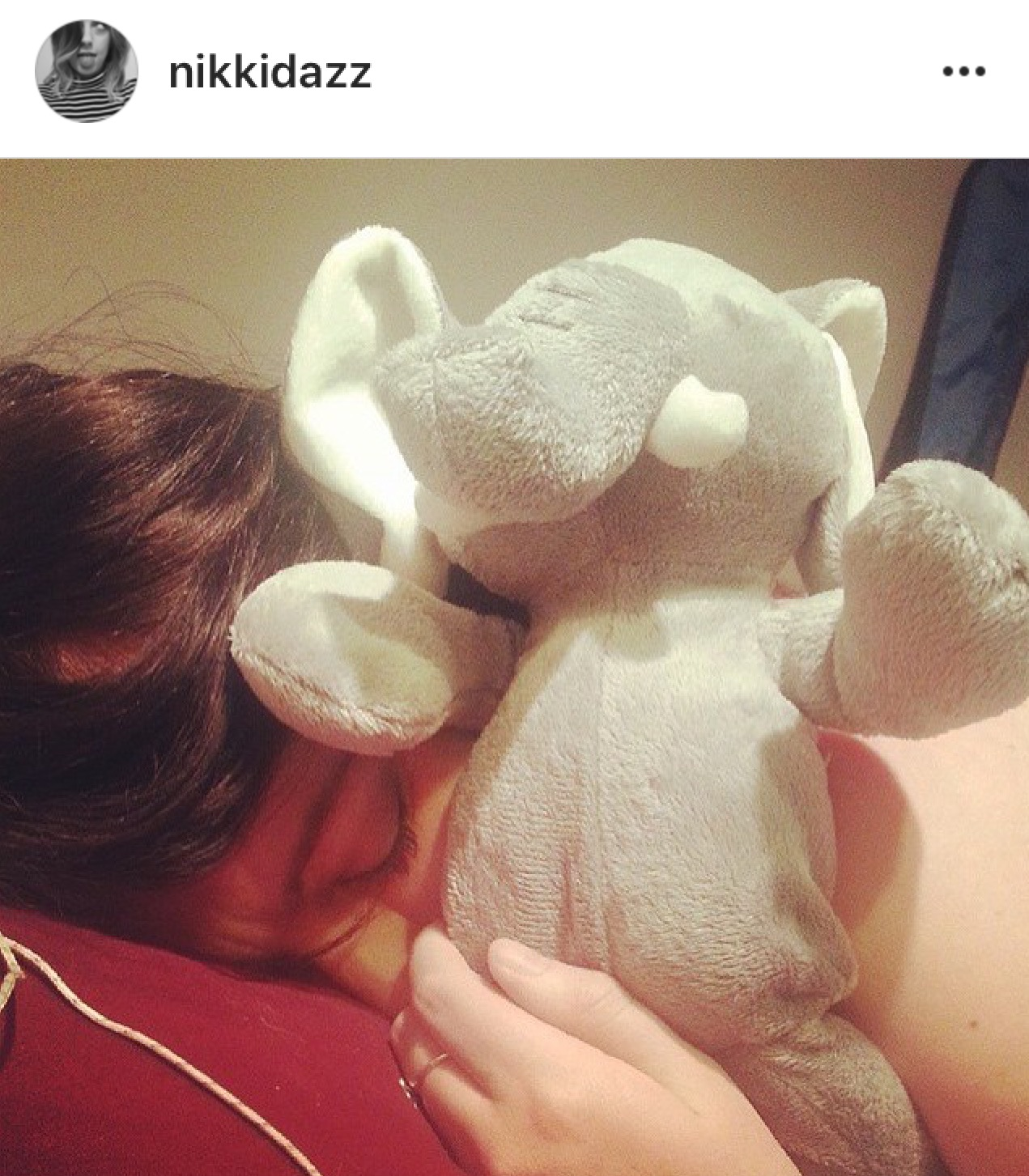 Ha! This was my 20th birthday. I was super unwell & taking a nap with the adorable hippo stuffed animal my sister got me! Never too old for a cute stuffed toy! I think I slept through most of that birthday.... oops.