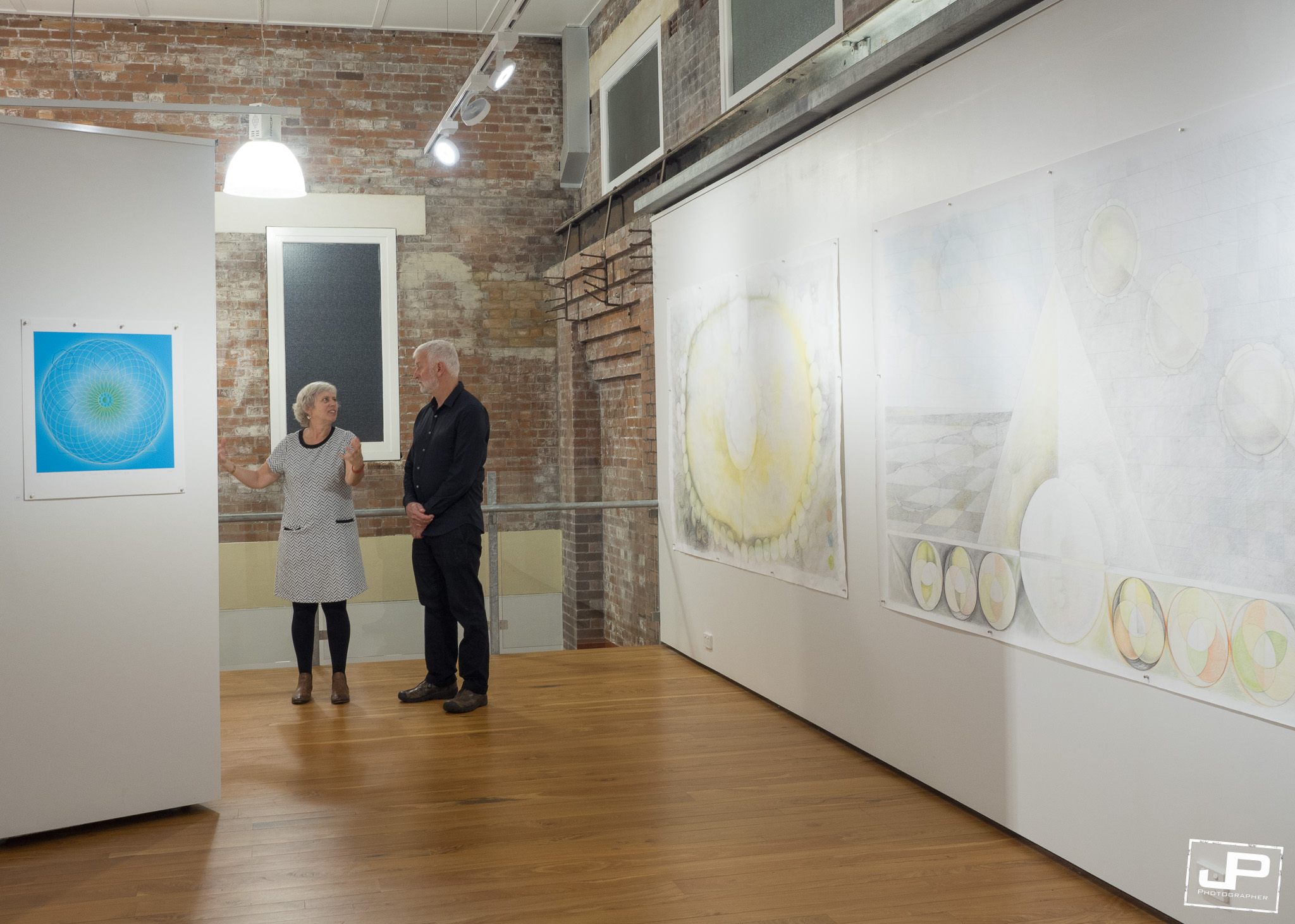 Anna Bonshek and Russell Craig at Impress Gallery  Photo by  Josh Pryke