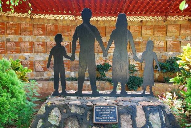 Memorial at El Mozote today