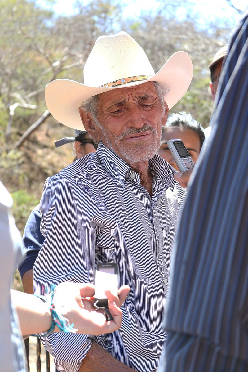 Amado Carillo gives his testimony / Photo Cristosal
