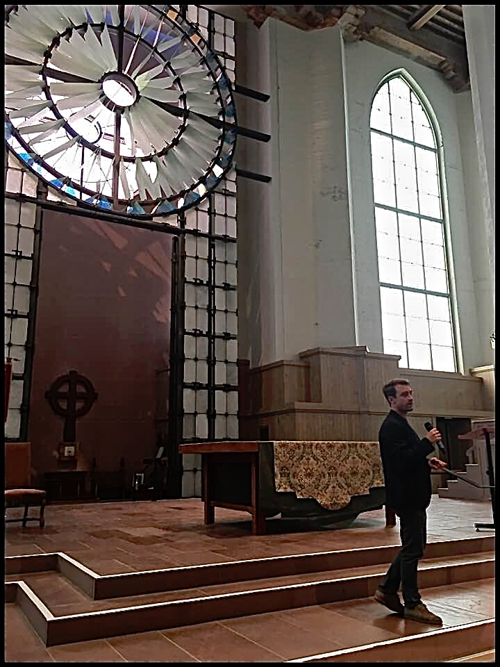 Noah at St. Mark's Cathedral, Seattle, Sept. 5