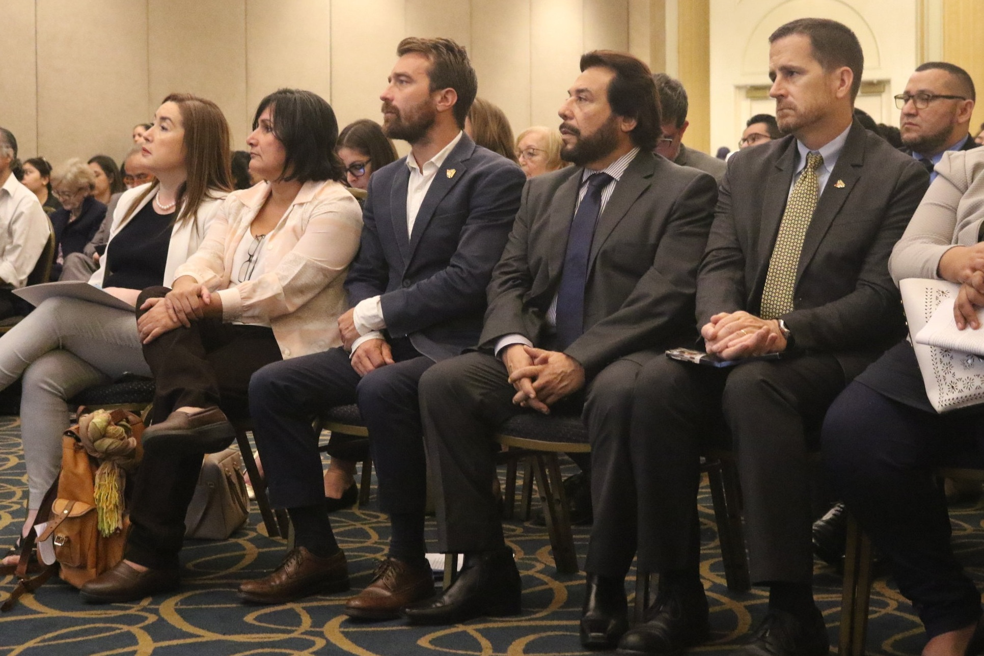 Left to right: EDUCO Country Director Alicia Ávila, Cristosal Chief Program Officer Celia Medrano, Cristosal Executive Director Noah Bullock, Vice President of El Salvador Felix Ulloa, President of the Cristosal Board of Directors Scott Pentzer