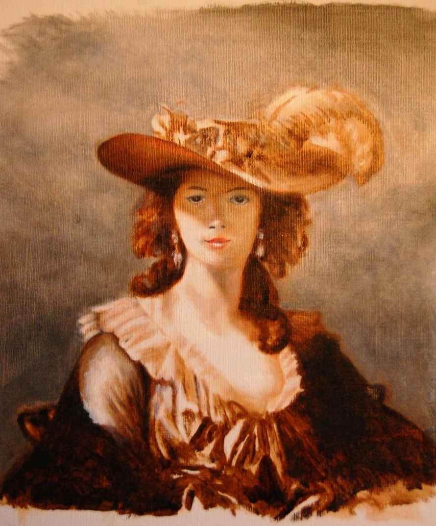 Learning how to use oil painting -