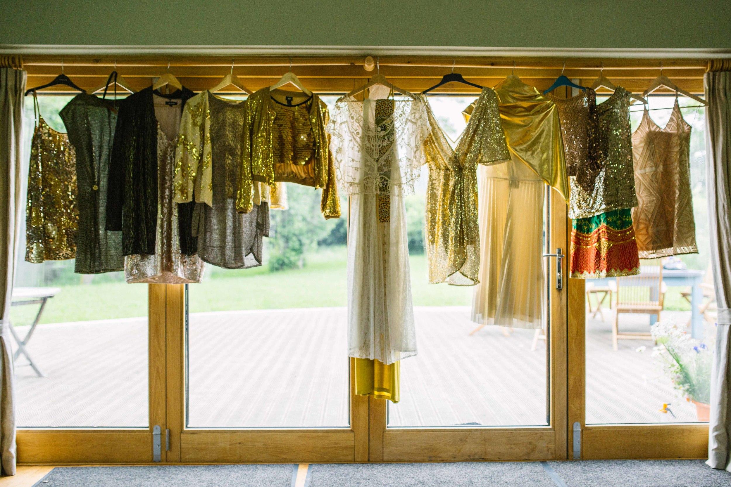 Gold wedding theme outfits UK wedding photographer Olivia Moon Photography