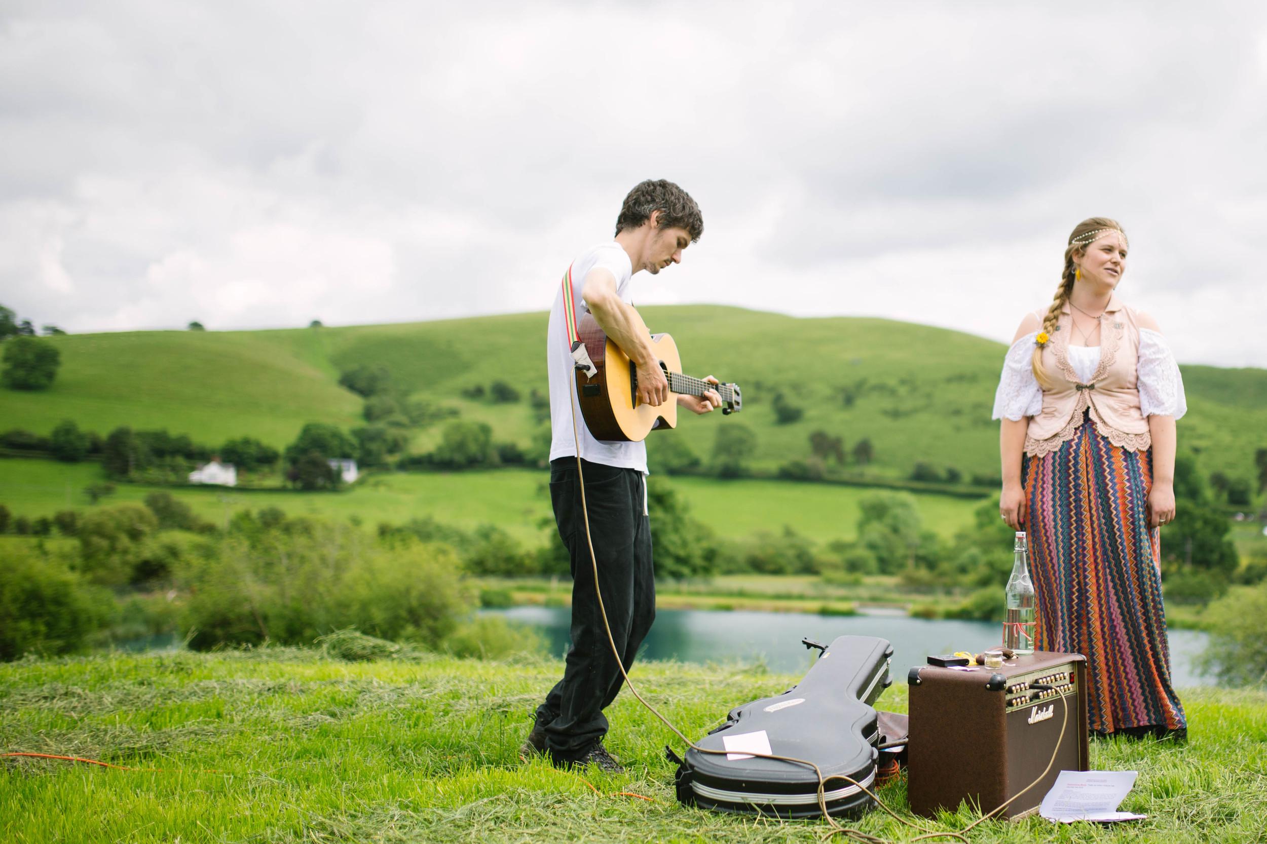 Festival wedding photography Shropshire UK Olivia Moon Photography
