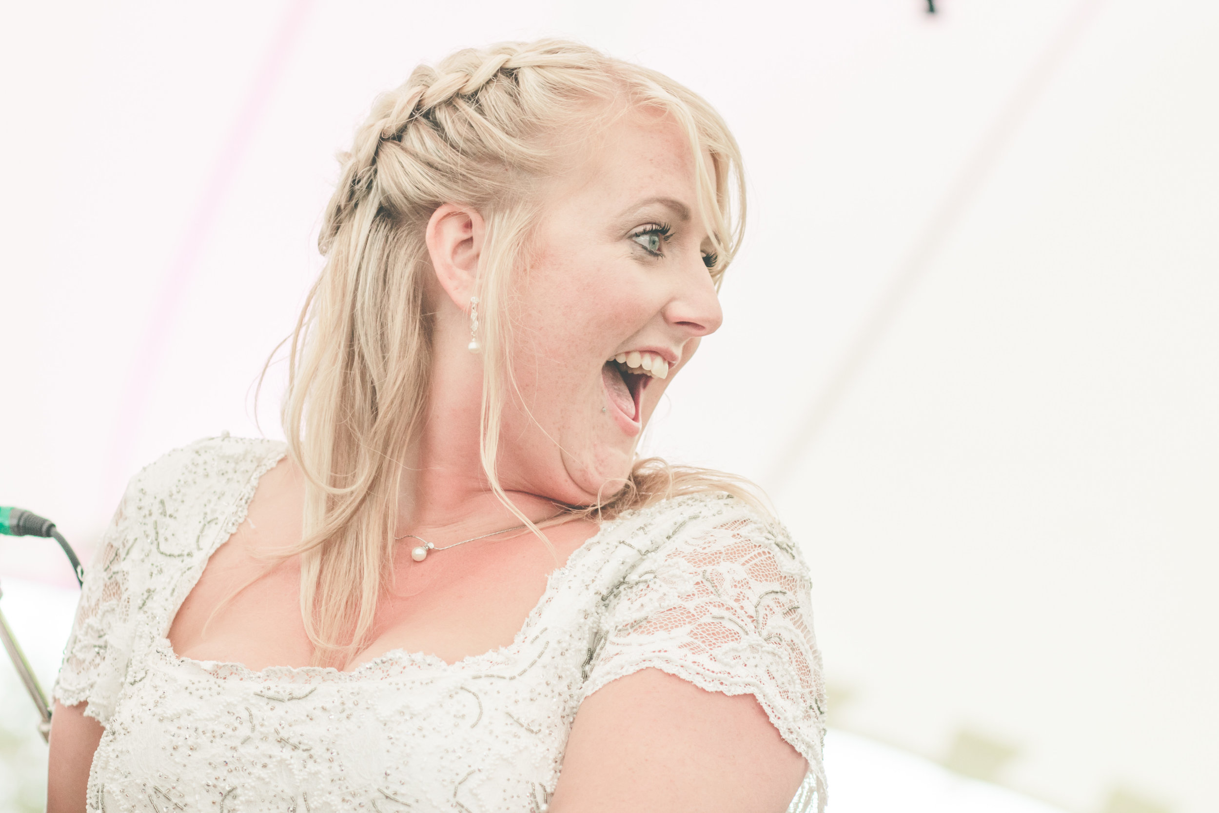 The bride, Shropshire festival wedding