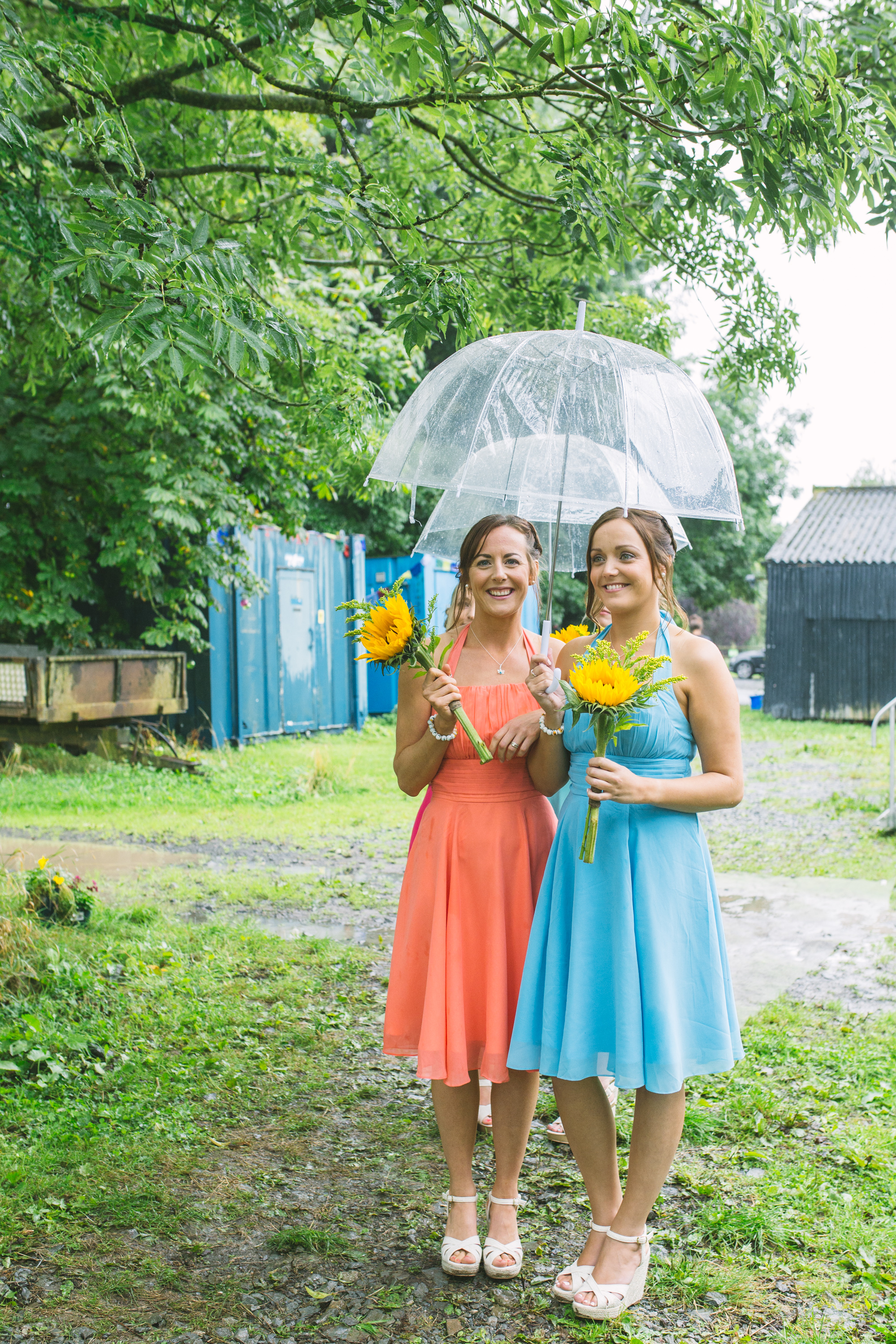 Bridesmaids, Shropshire festival wedding