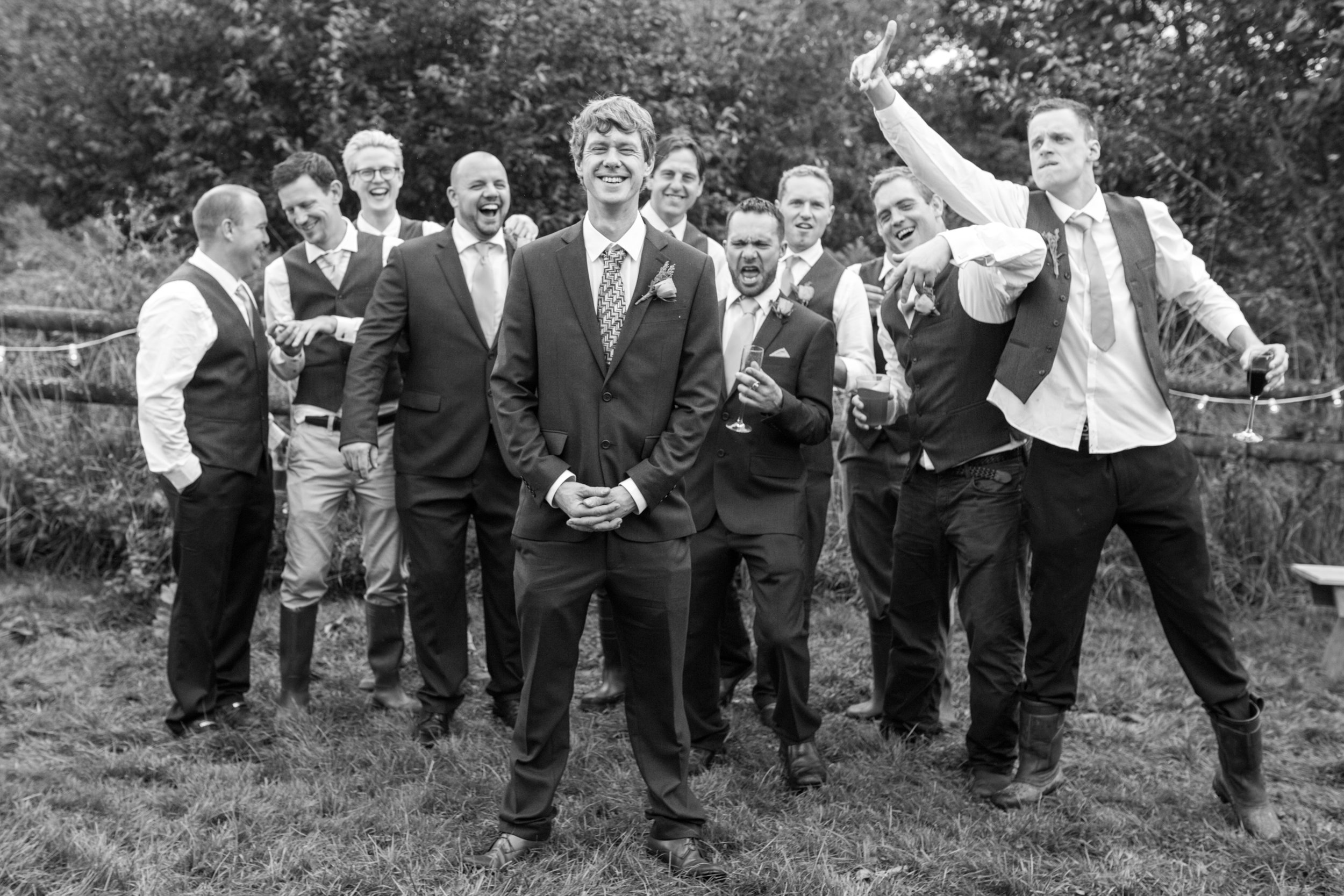 The boys, alternative UK wedding