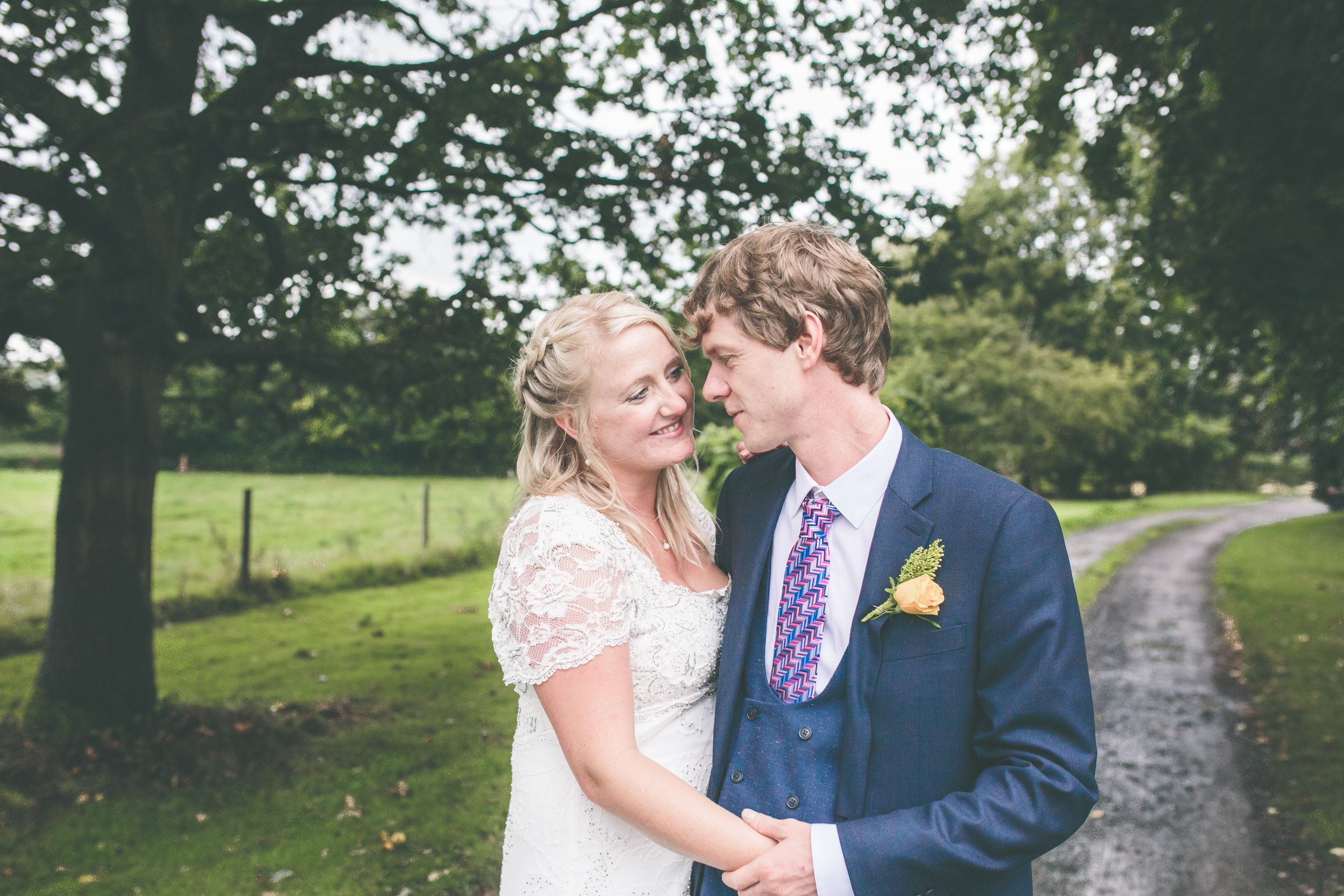 Natural bride and groom portrait, Shropshire