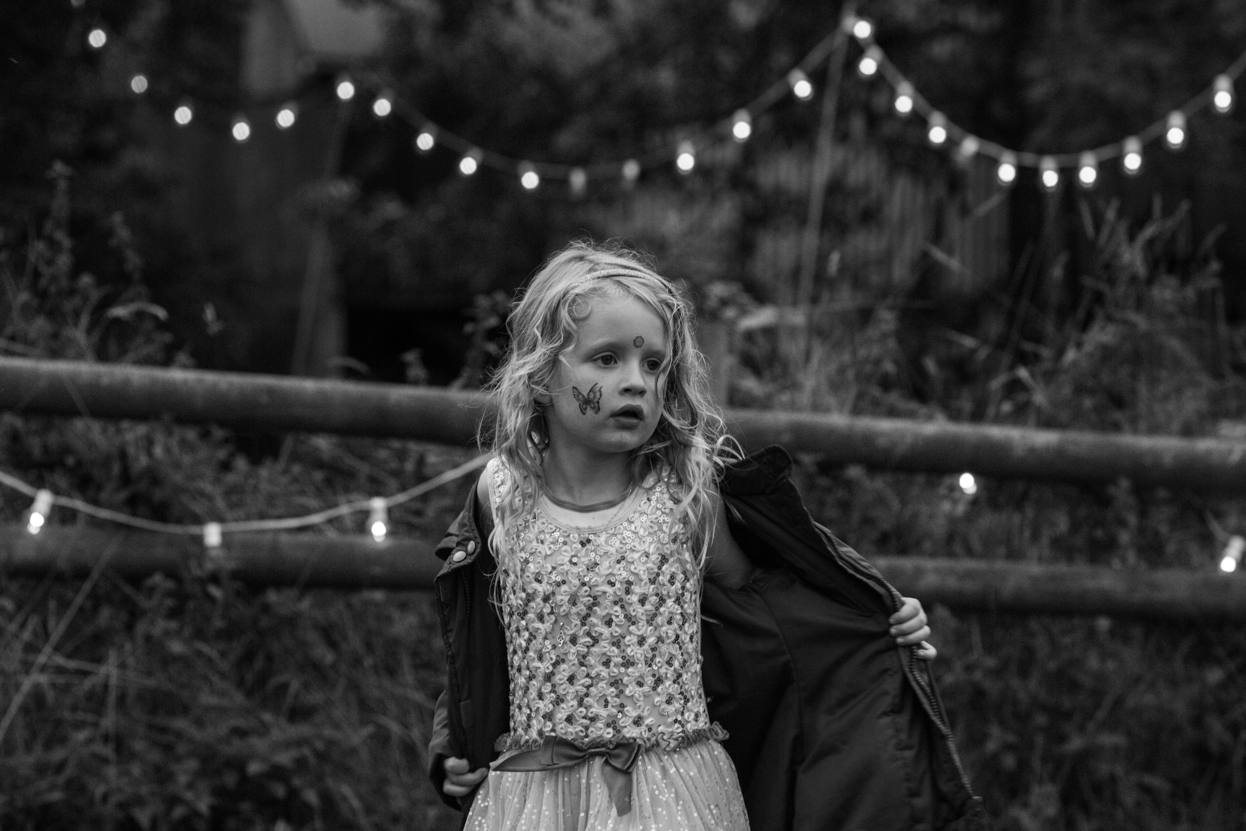 Festival child, Shropshire wedding