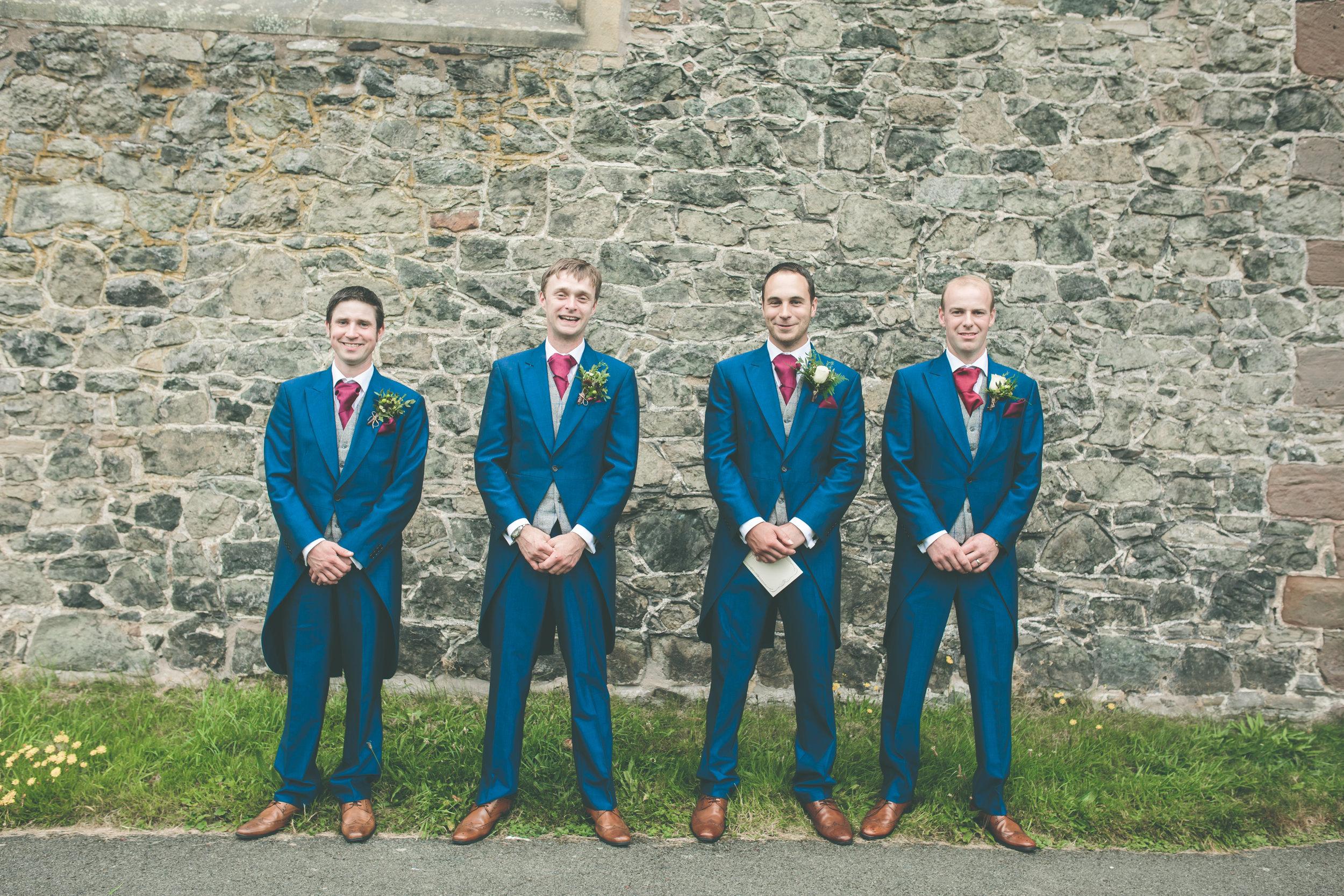 Groom and groomsmen, Montgomery church wedding photography