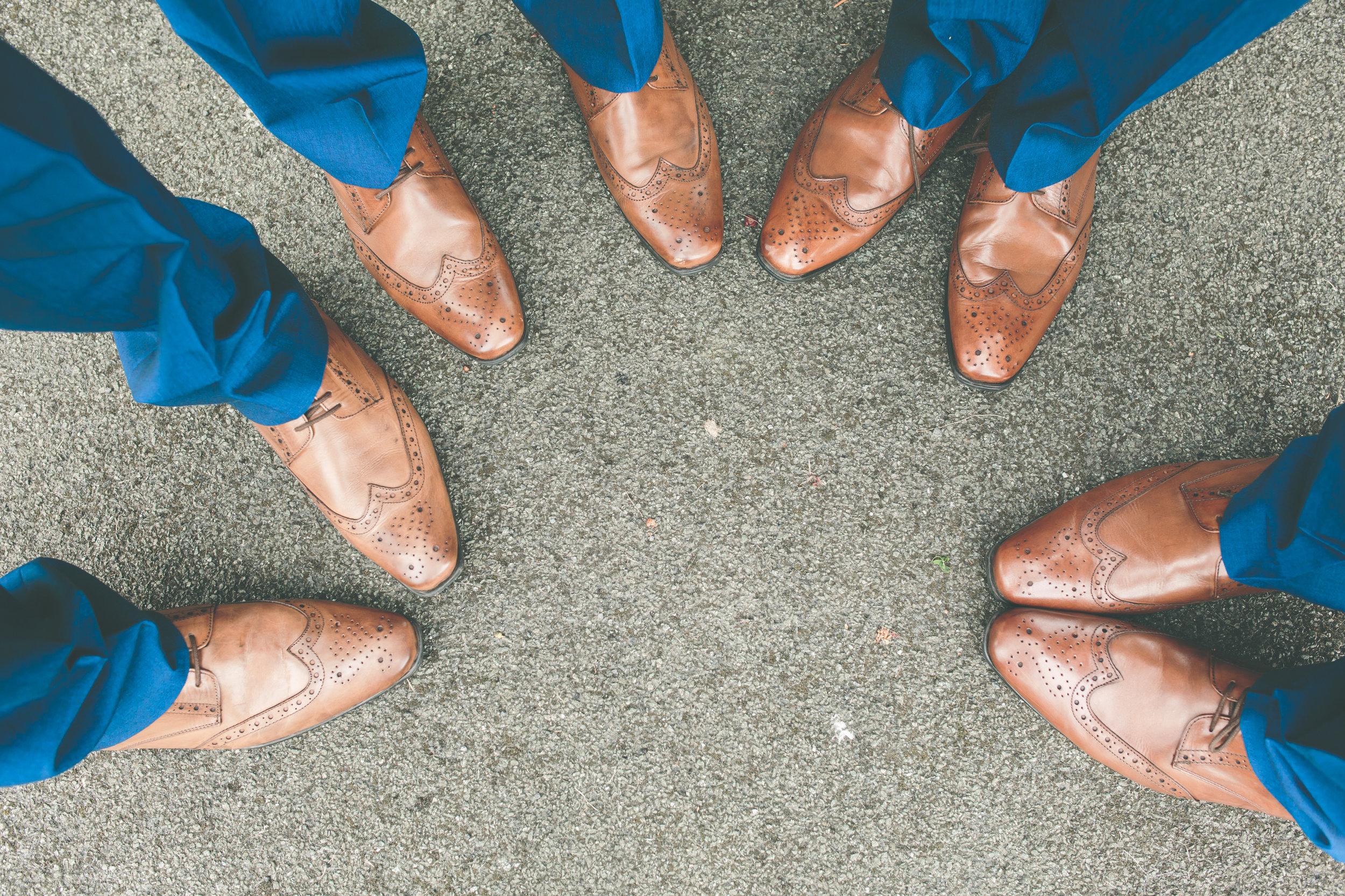 Groomsmen shoes, Shropshire wedding photographer