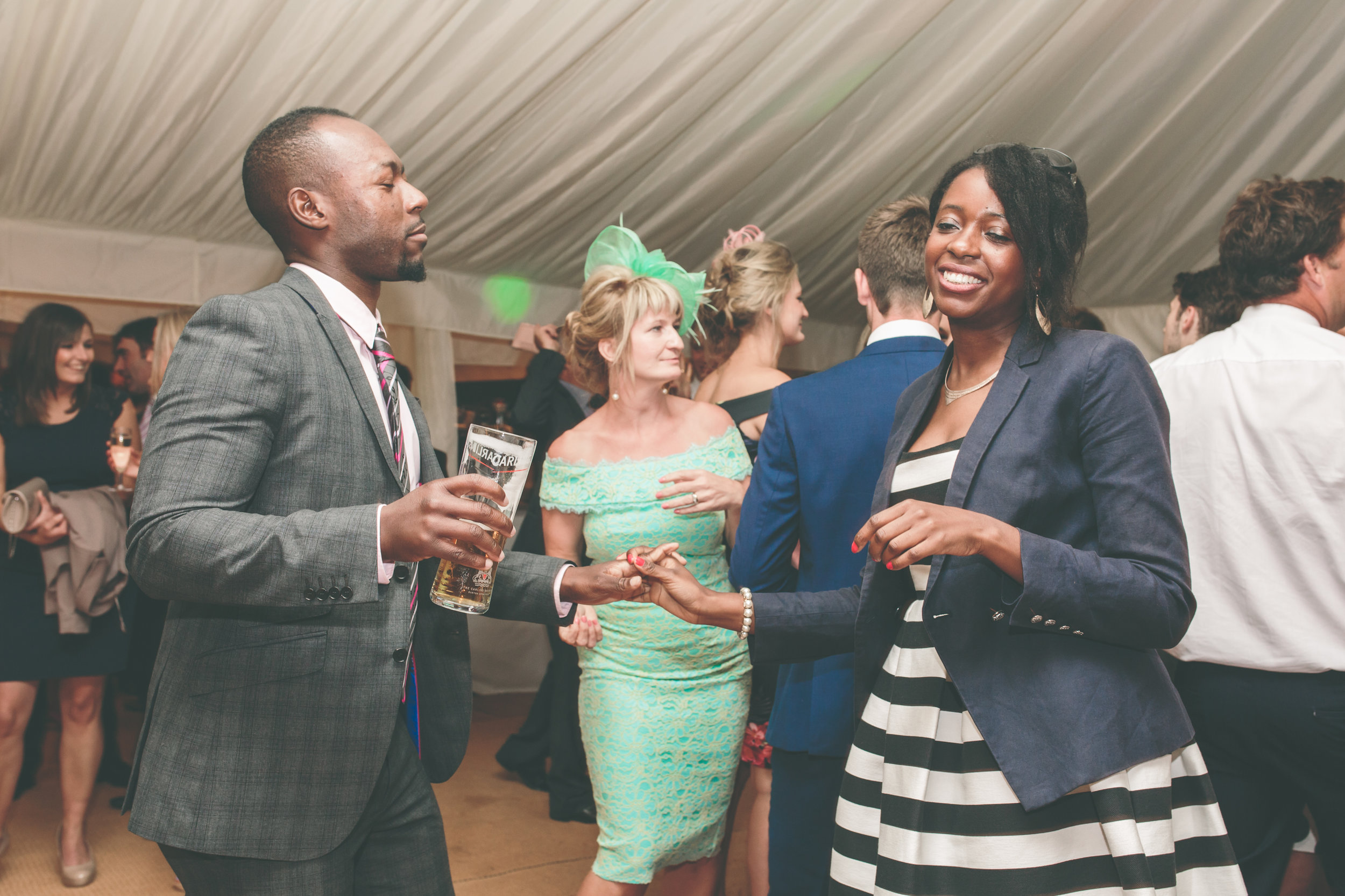 Guests dancing, Shropshire wedding photographer