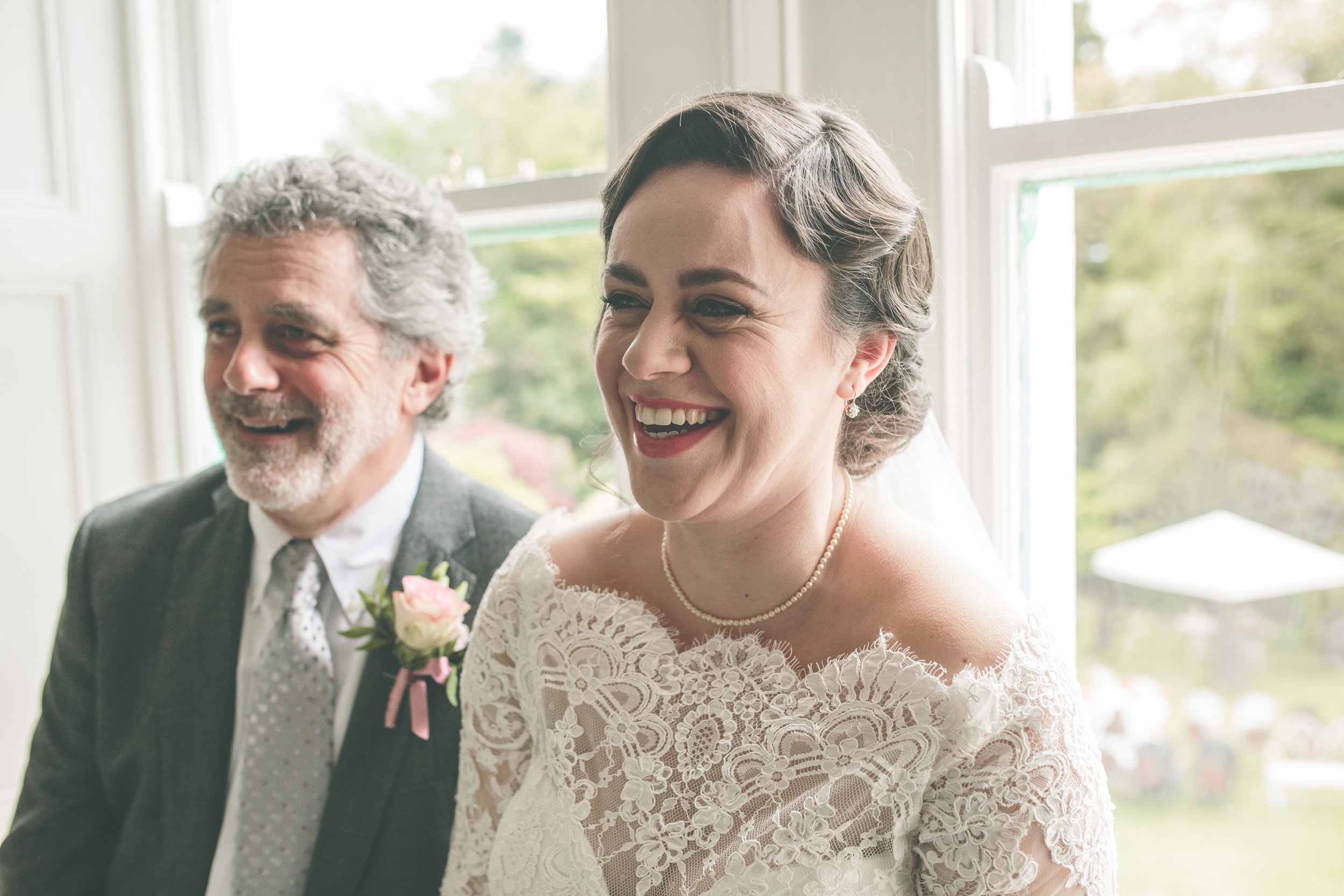 Irish wedding photography - Bride and Father