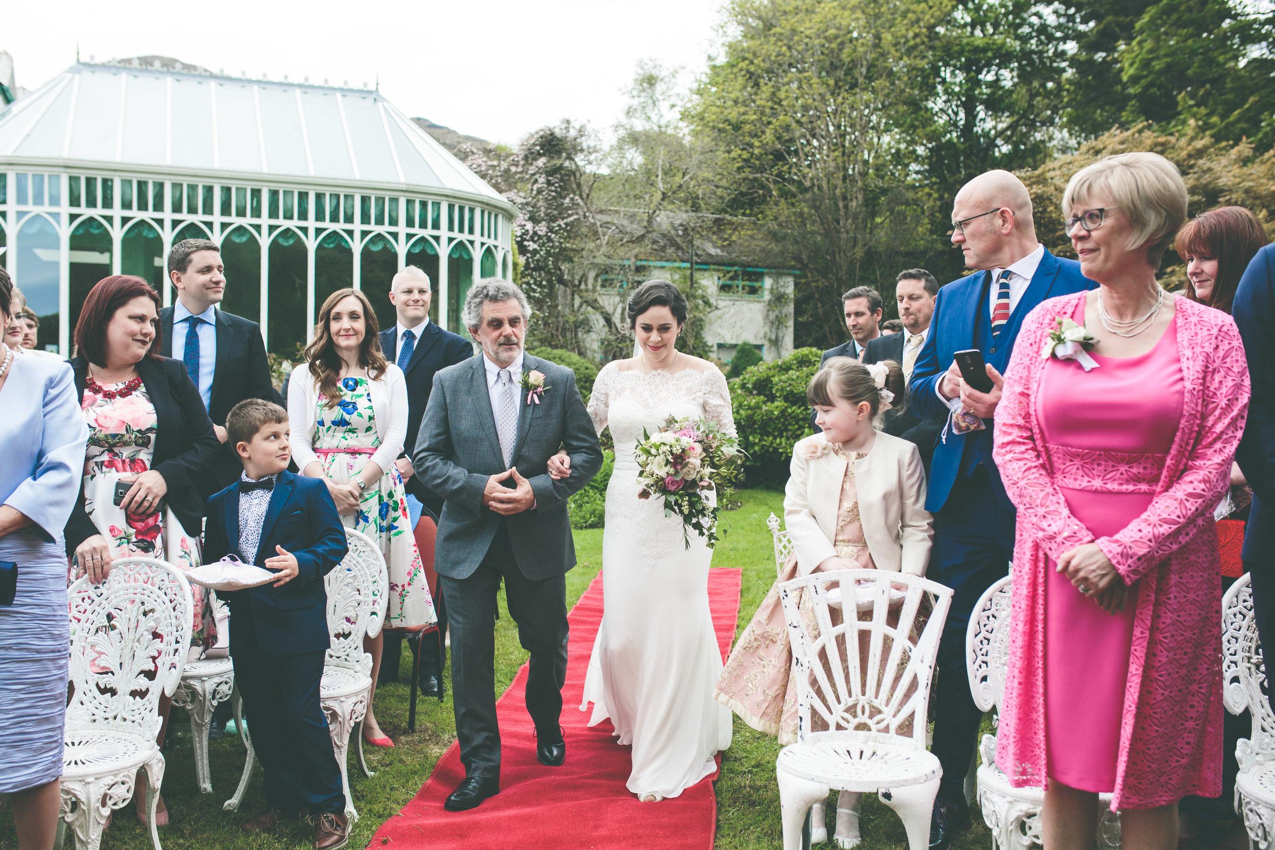 Connemara wedding photography - Walk down the aisle