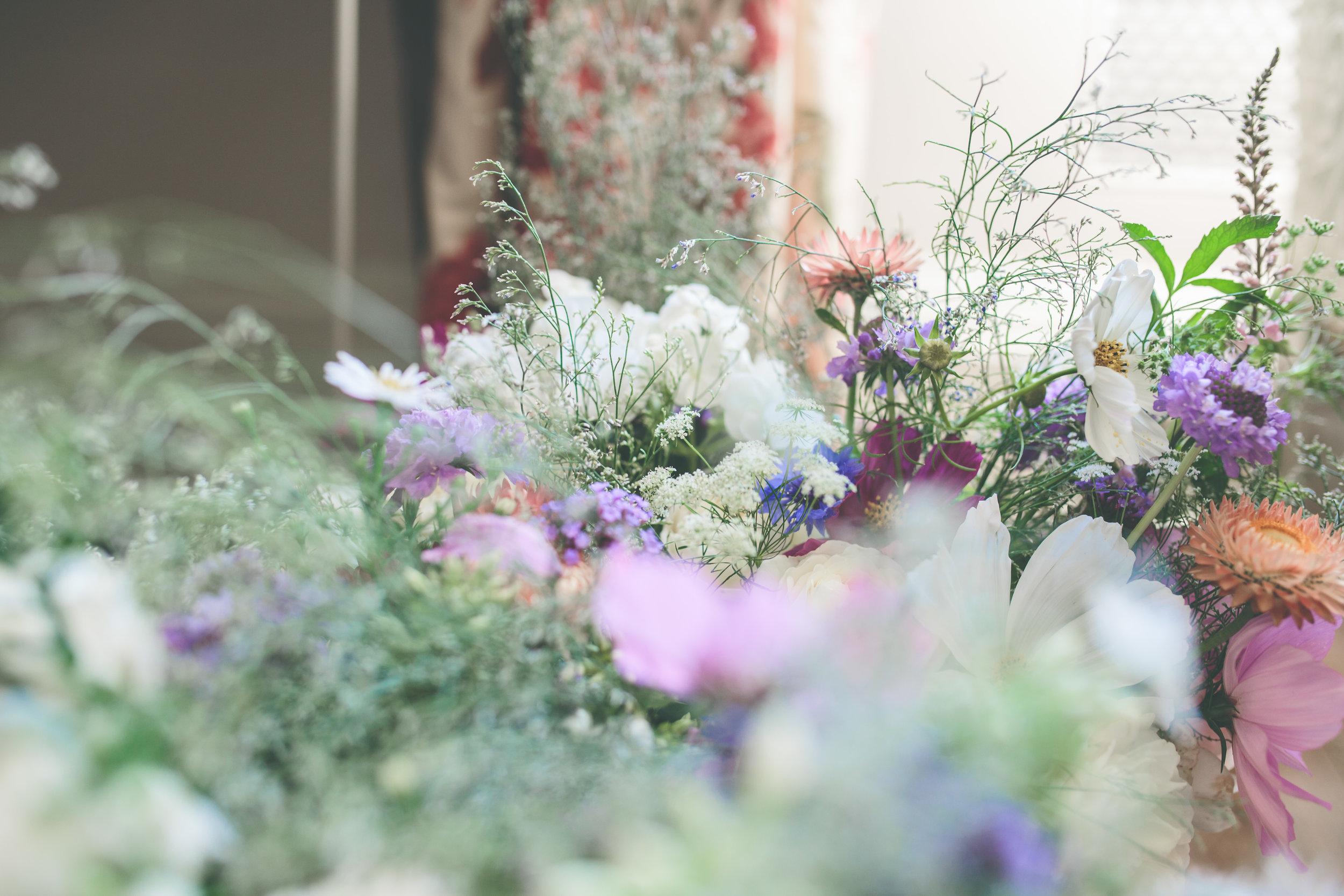 Walcot Hall Wedding - wildflower bouquet