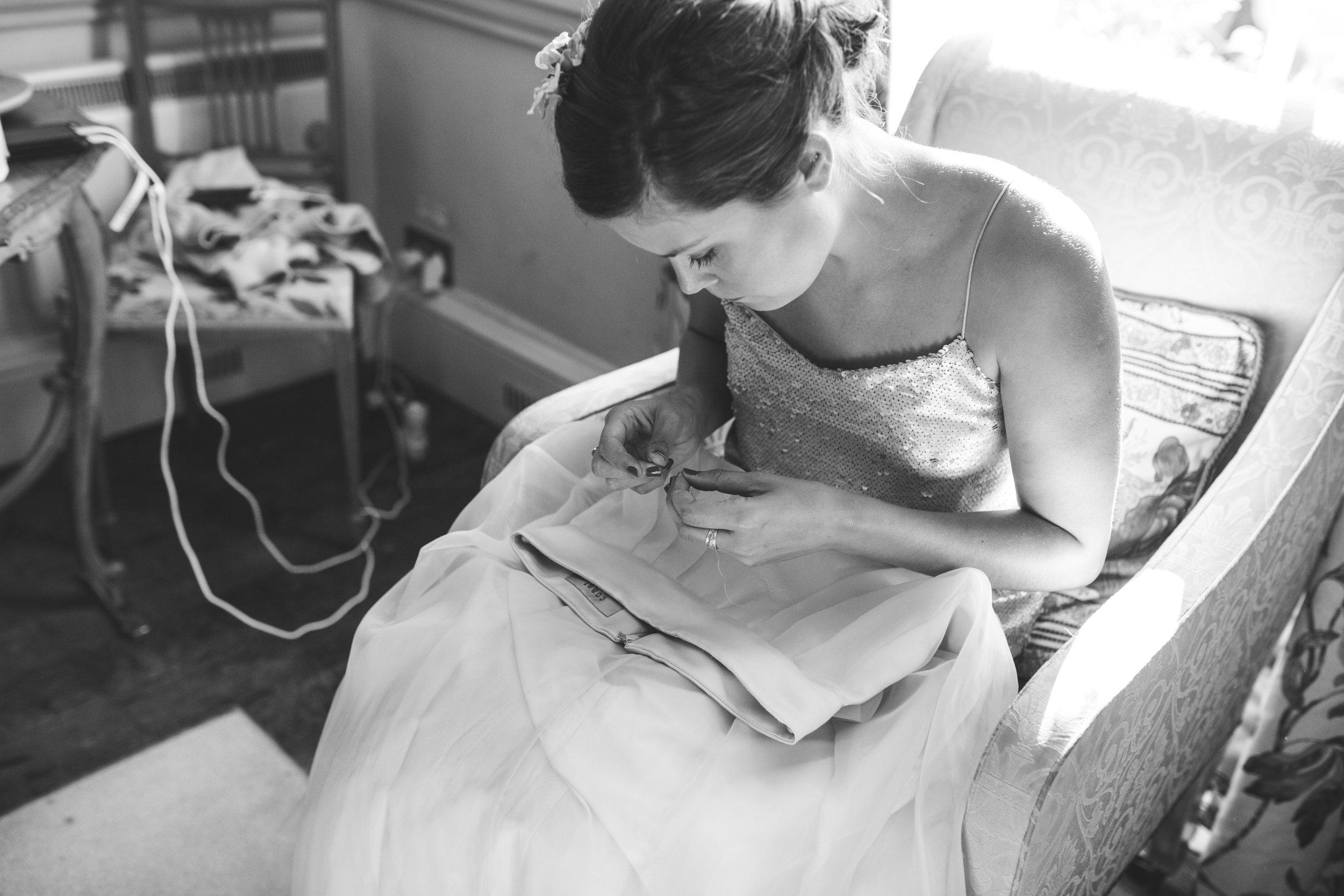 Walcot Hall Wedding Photography, Bridesmaid