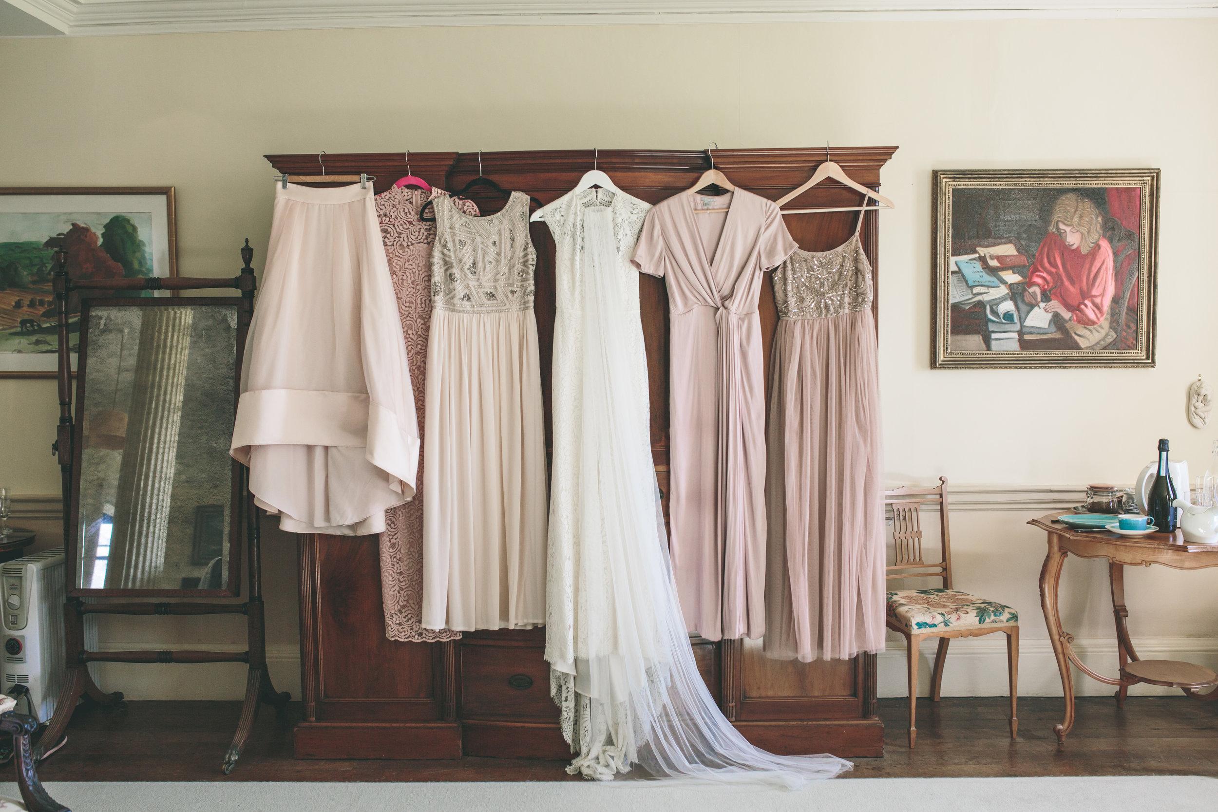 Walcot Hall wedding photography - symmetrical
