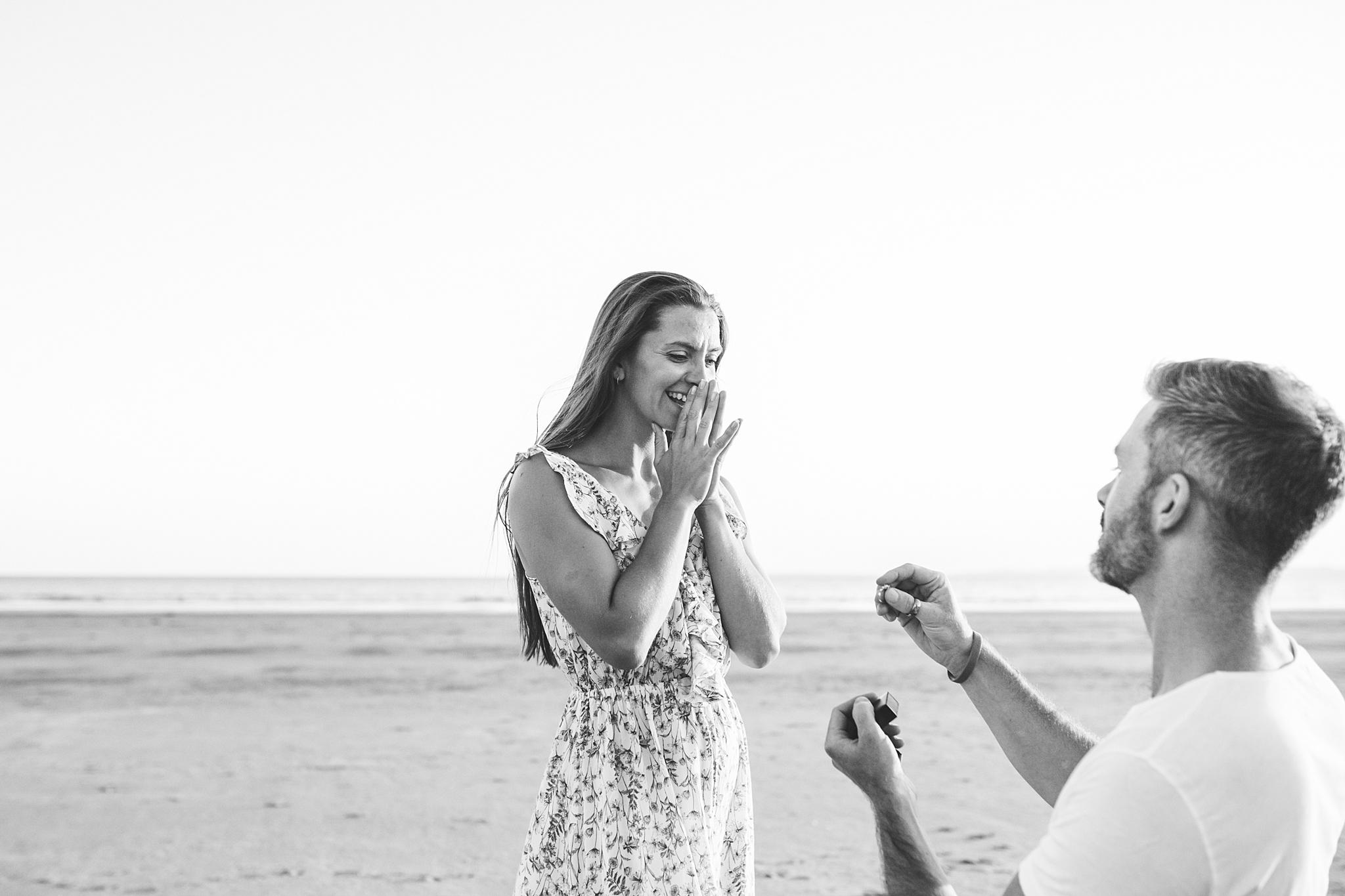 Proposal photography UK beach