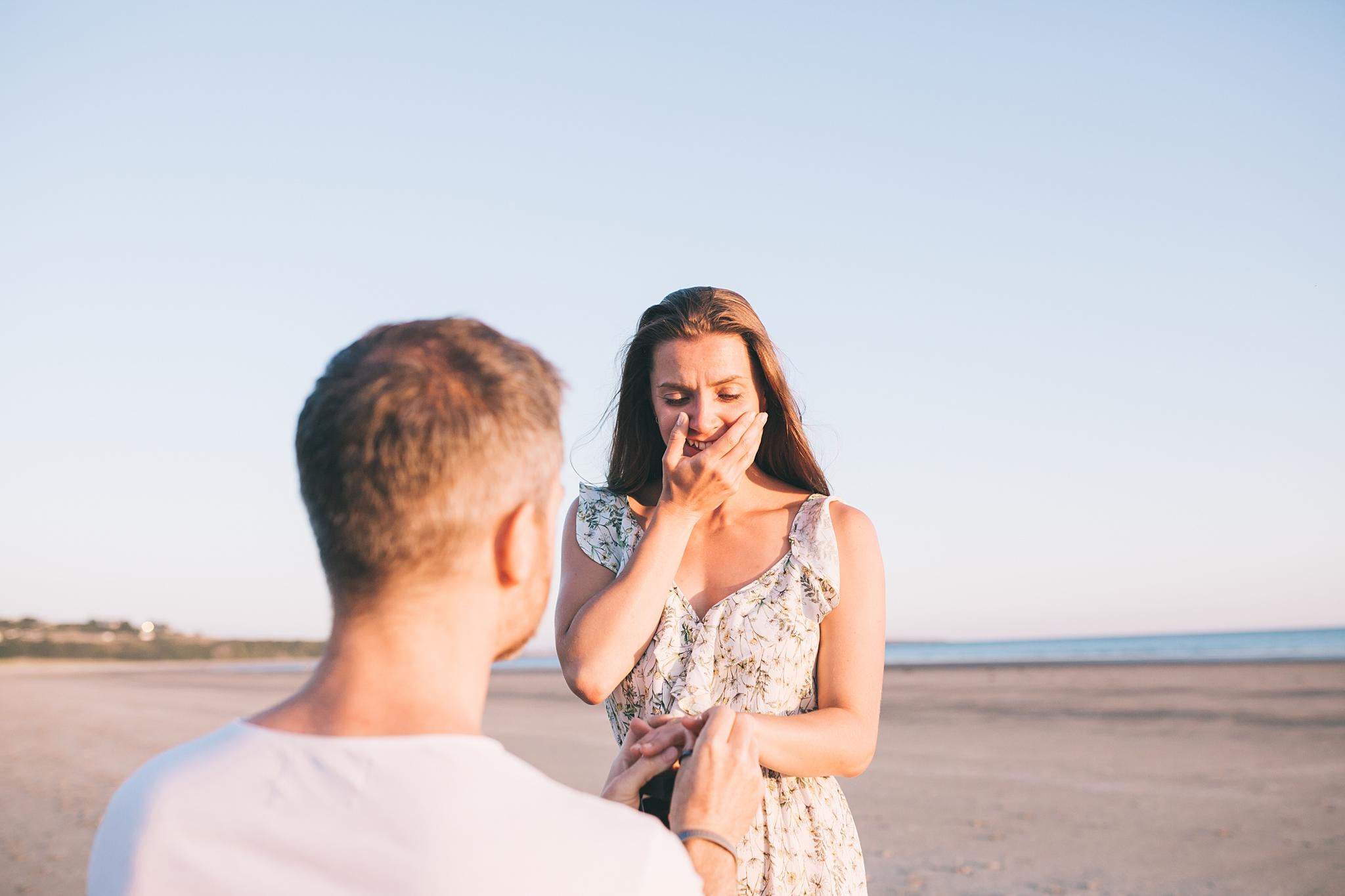 Cornwall wedding photographer engagement shoot