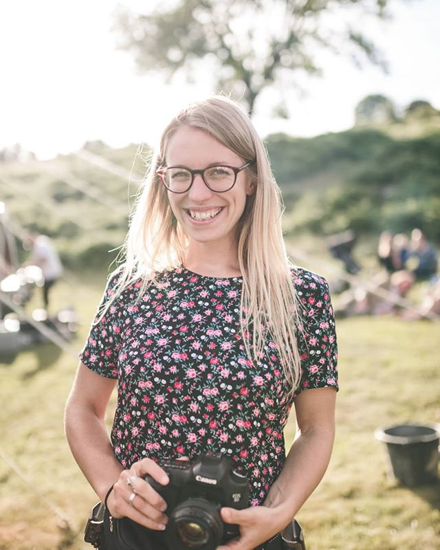 Friday introductions: I've never done this before, and I'm much more comfortable behind the lens than in front, but @jonnykeeley took a half decent photo of me working recently, so here goes!  I'm Olivia, a wedding photographer and eco-entrepreneur based between Cornwall and Shropshire. I split my time because my two main people live in different parts of the country (my love is in Cornwall, and my 98 year old Gran is in Shropshire). I also run @wildglitterstore, selling biodegradable glitter online and at festivals. Don't ask me why I decided to start two fairly seasonal summer businesses... I love reggae. If I had to listen to one kind of music for the rest of my life, reggae would be it. I'm probably going to need a knee replacement by the time I'm 50 purely because of the hours and hours I spend dancing to it.  My favourite sandwich is marmite, peanut butter and beetroot (not the vinegary kind 🤢). My guilty pleasure is 90s Julia Roberts movies. Her hair! Her smile! 💁♀️ I'm very silly, and my sense of humour is in the gutter (thanks mum), but I'm also a bit shy to begin with. Weddings have helped massively with this, so have my 30s!  So, that's me. If you're looking for a wedding photographer with a strange taste in sandwiches, who will be the first one on the dance floor and who might whip out the bioglitter at any given moment, then I'm your gal!