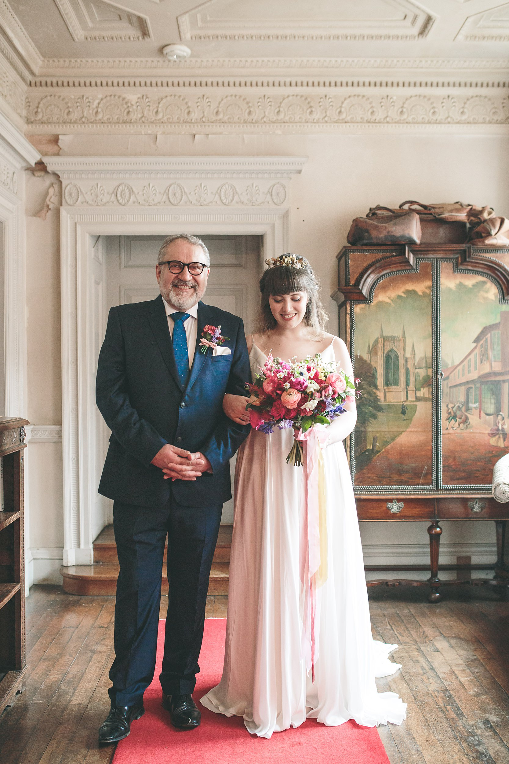 Walcot Hall Wes Anderson inspired wedding photography