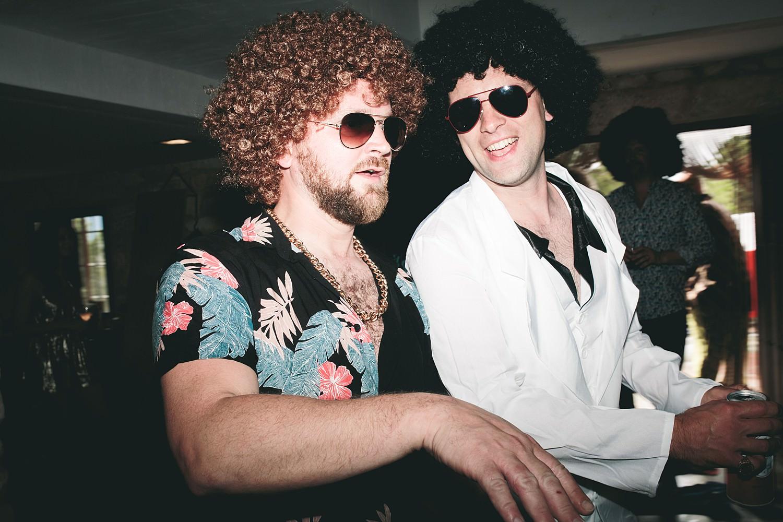Festival wedding photographer Cornwall Fancy dress wedding