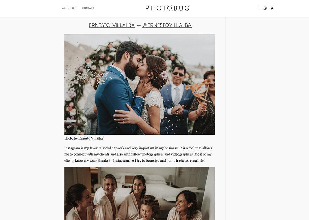Photobug   Entrevista en el blog internacional Photobug sobre la red social Instagram.