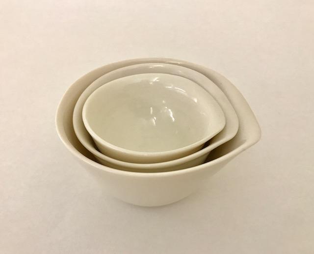 Set of three dipping stack bowls - £60