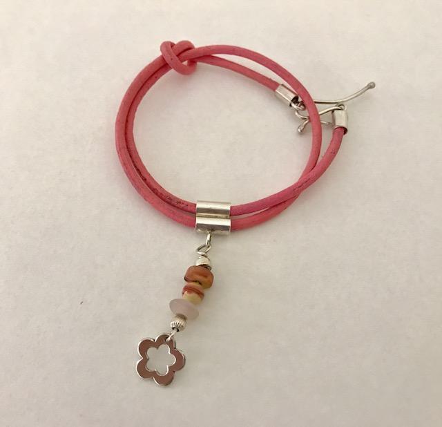 Leather & Silver bracelet £27