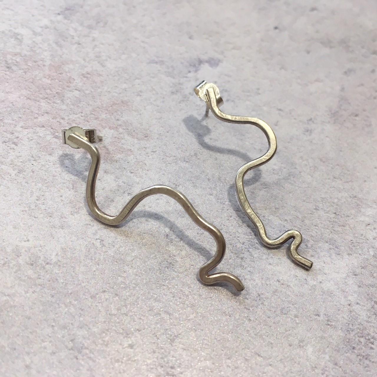 Long wire shape earrings £55