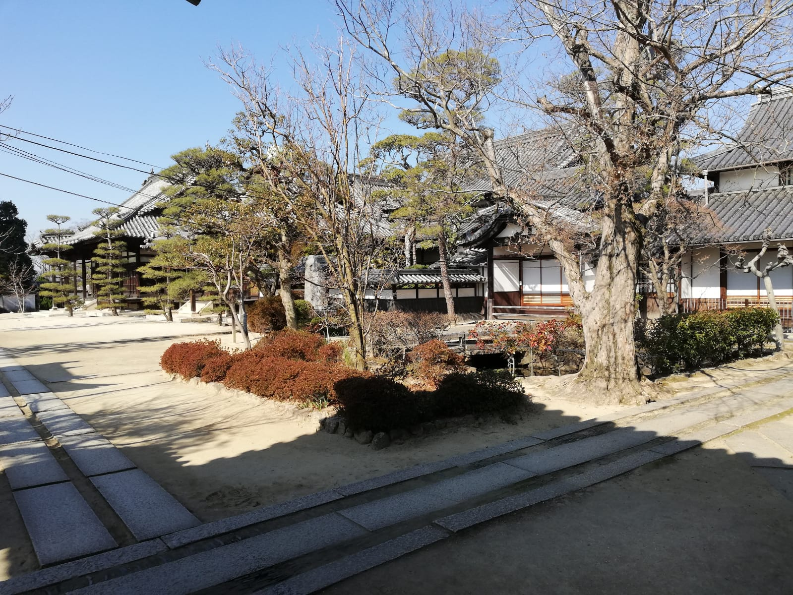 High walk in Kurashiki above the old town.