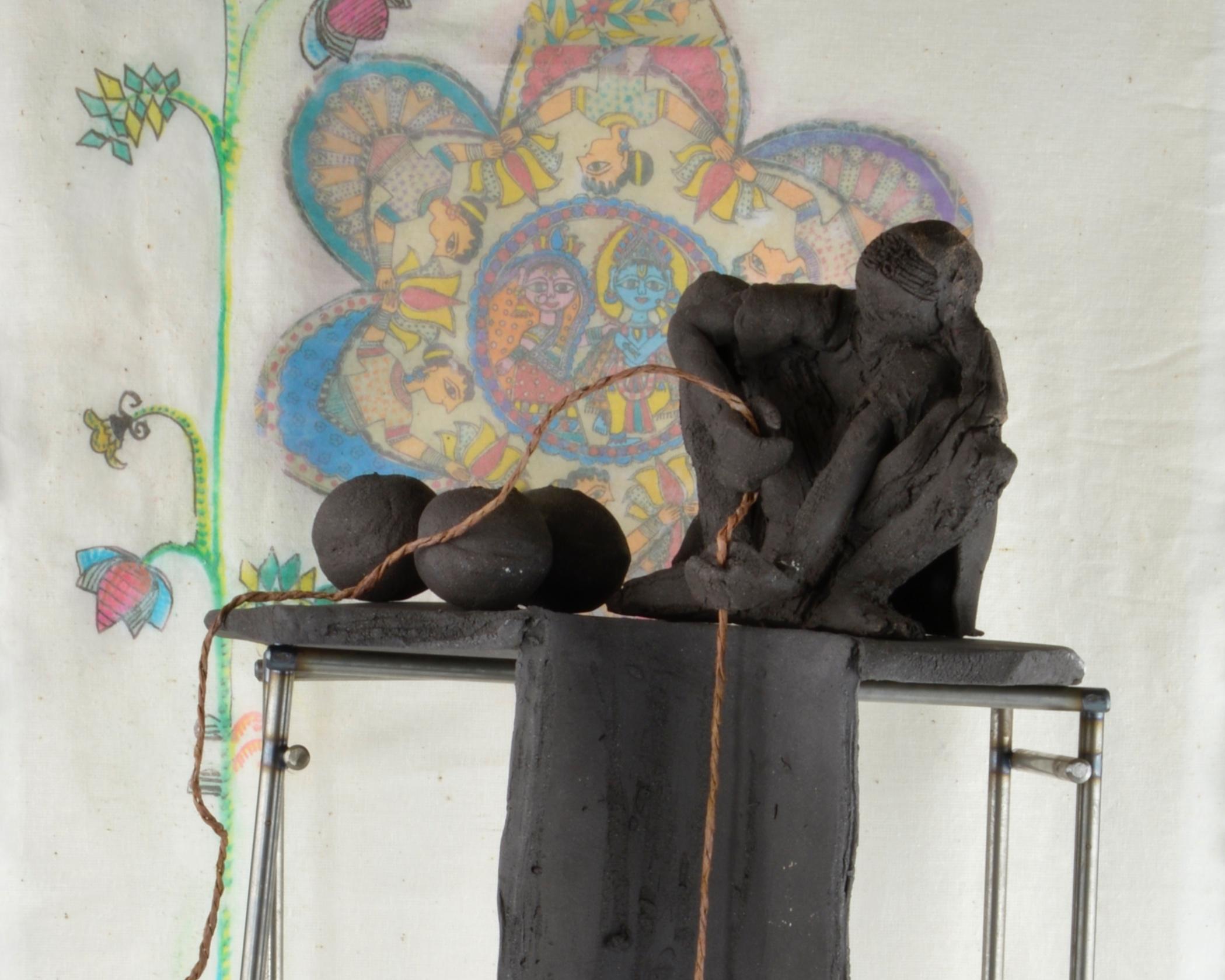 BRIGID DE SAULLES: CERAMICS - WOMAN AT THE DRYING WELL