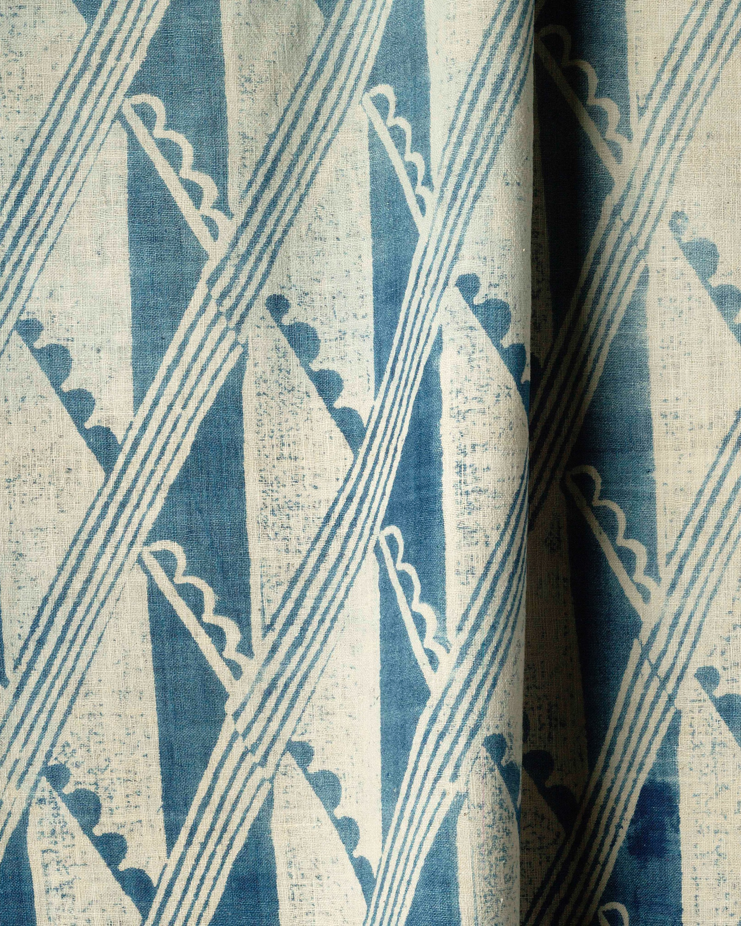 Barron and larcher, ' diagonal '  block print