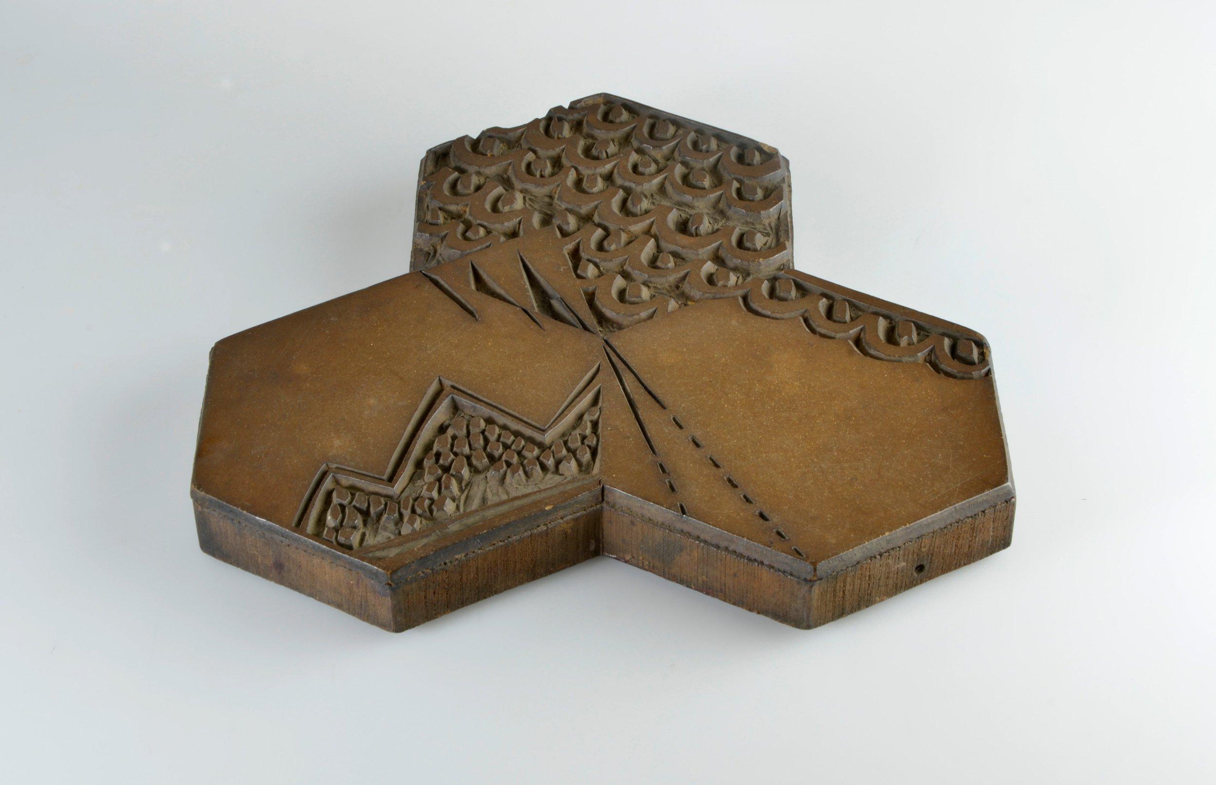 dorothy LARCHER printing block,  hexagon