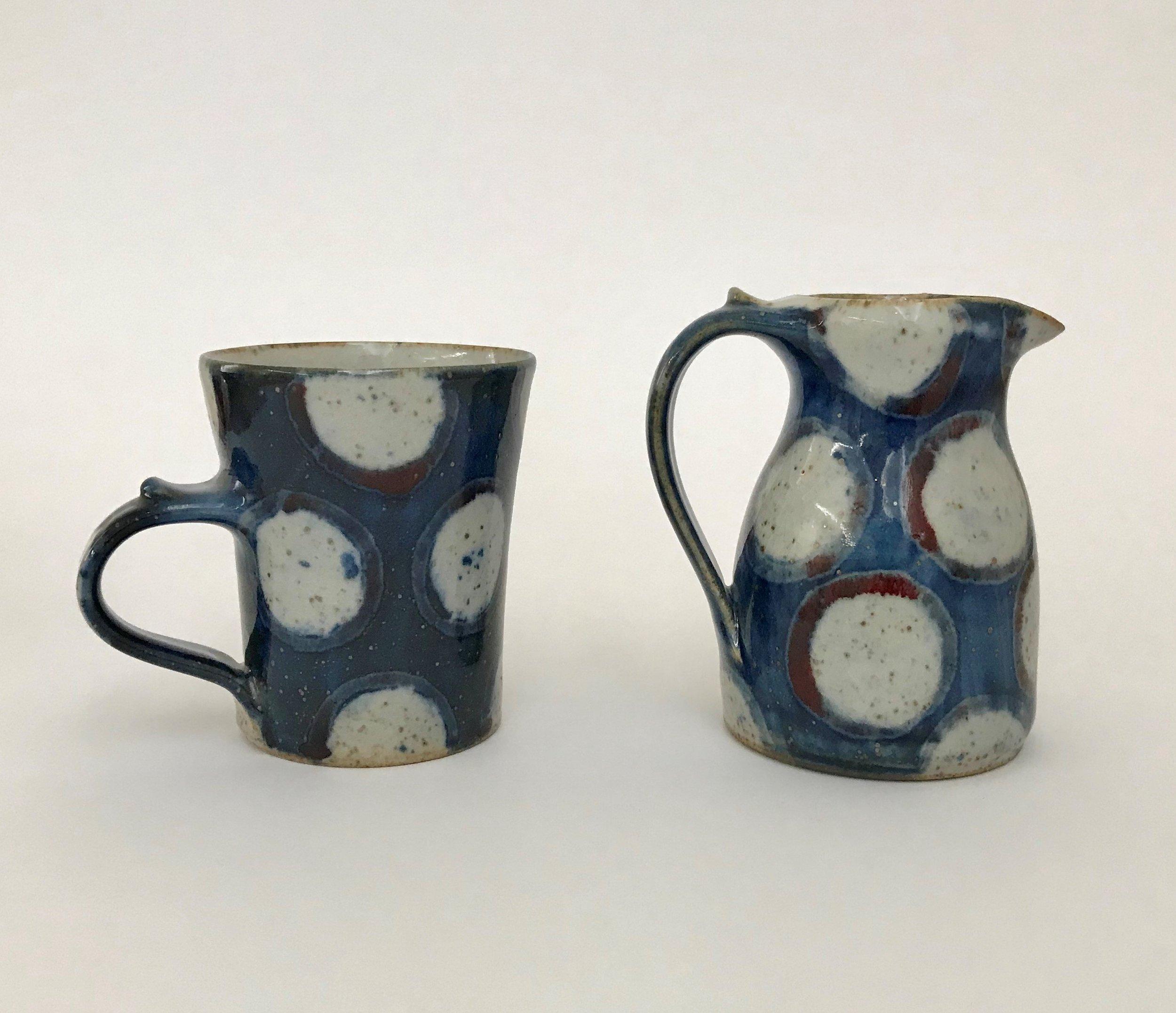 Small tall mug £16, Mini milk jug SP £26