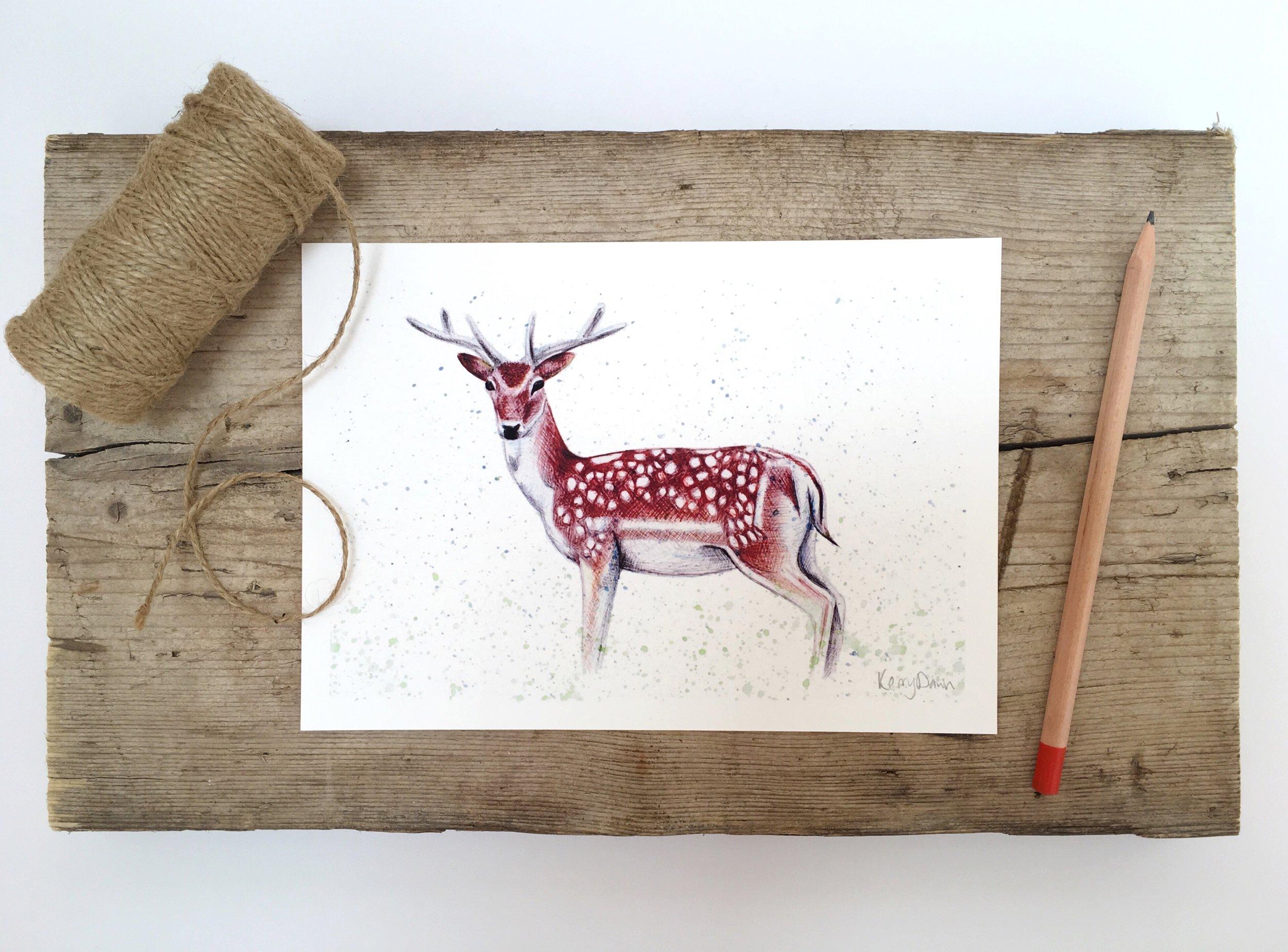 Deer Print A5 flatlay.jpg