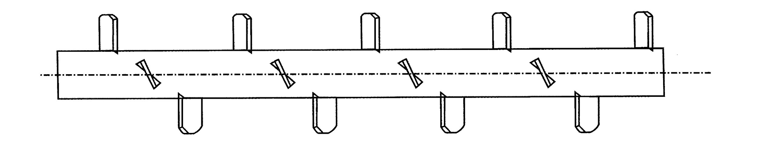 Screw Conveyor - Paddle Screw  Suitable for transportation of materials that need to be mixed before reaching its destination, as well as transportation from material hoppers