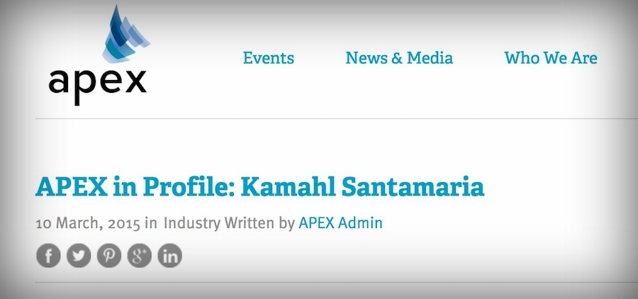 APEX - MAGAZINE Q&A (2015)Kamahl was profiled by Terri Potratz and Jessica Sammutt from APEX (Airline Passenger Experience) after they met him at the launch of the Airbus A350 in Toulouse, France. He shared his views on the airline industry.
