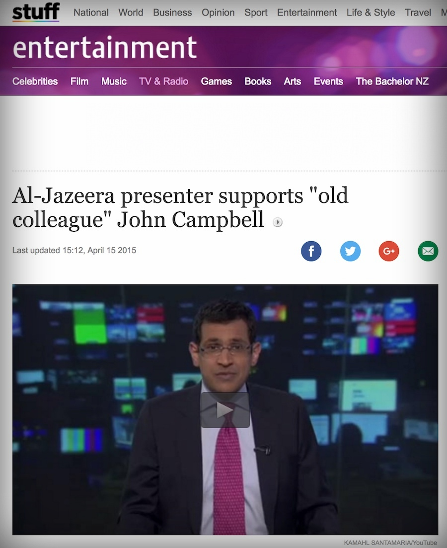 Stuff.co.nz - NEWS ARTICLE (2015)Kamahl joined the online campaign to save TV3 New Zealand's 7pm current affairs show Campbell Live.Though ultimately unsuccessful, it brought attention to a lack of quality news and current affairs reporting in New Zealand.