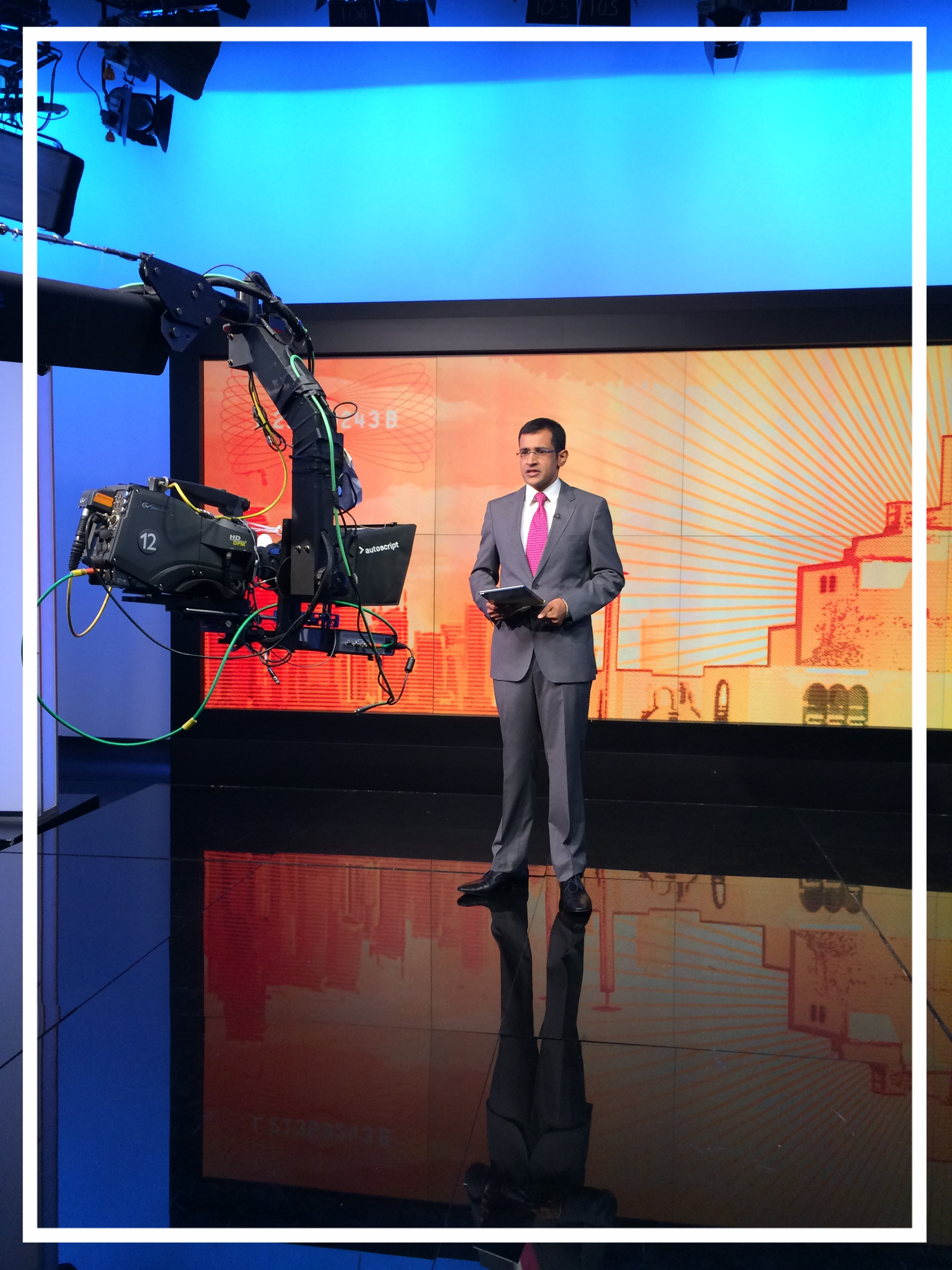 Presenting  Counting the Cost  from Studio 12 at Al Jazeera (Doha, 2014)