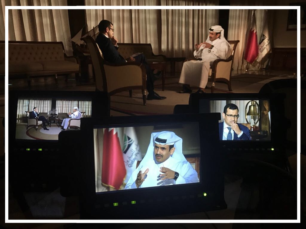 Interviewing Saad Sherida al-Kaabi, CEO of Qatar Petroleum (Doha, 2017)