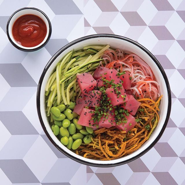 Fresh and filling lunch? Hell yes.  #pokecolombia #poke #bogota #theoneandonly