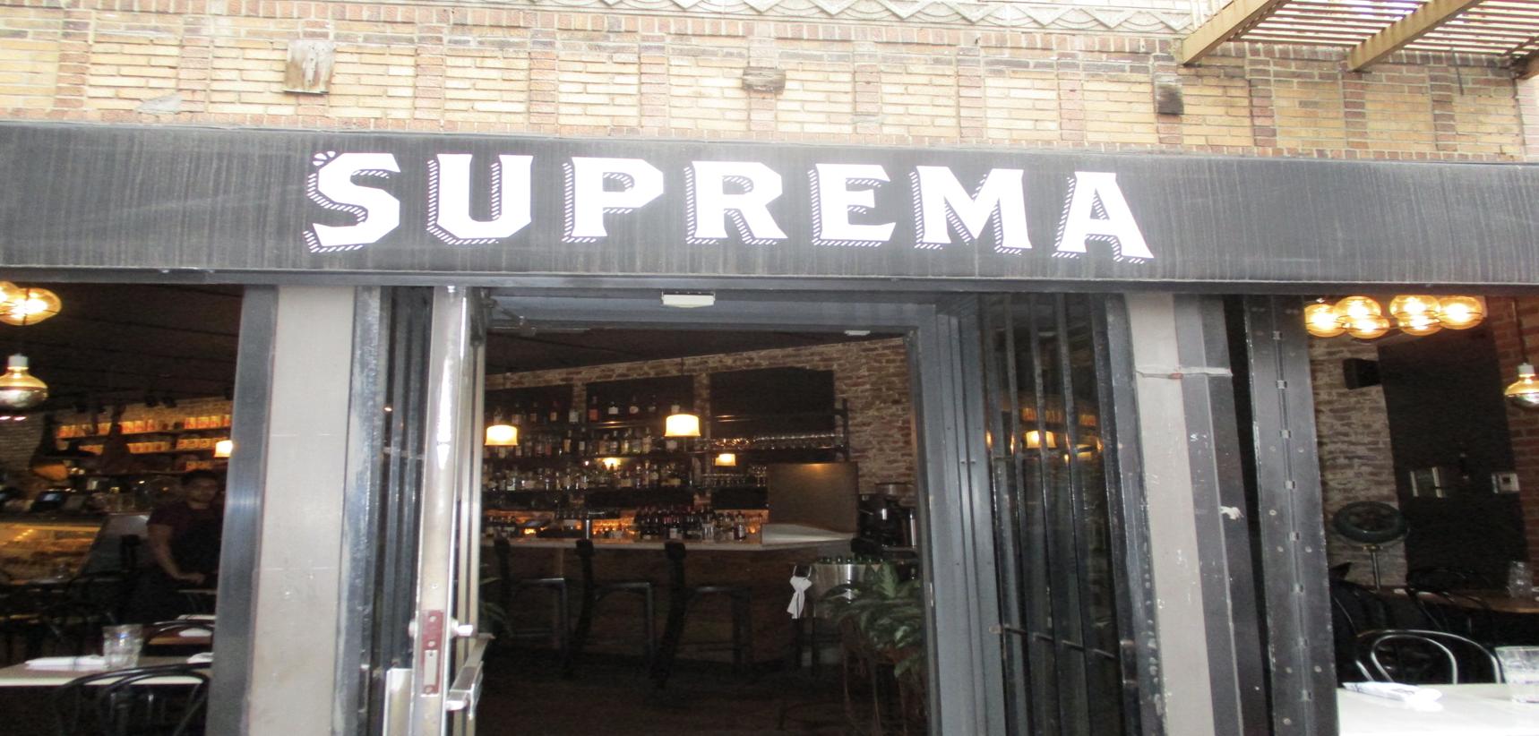 Suprema storefront on Bleeker Street