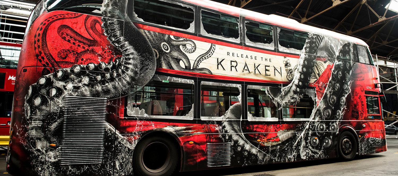 Kraken Rum Bus — Oink Creative