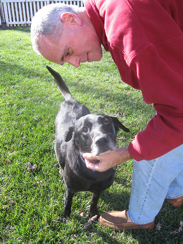 Dec 31, 2008. Don and Buddy meeting for the first time. Even then I thought to take pictures of the moment.