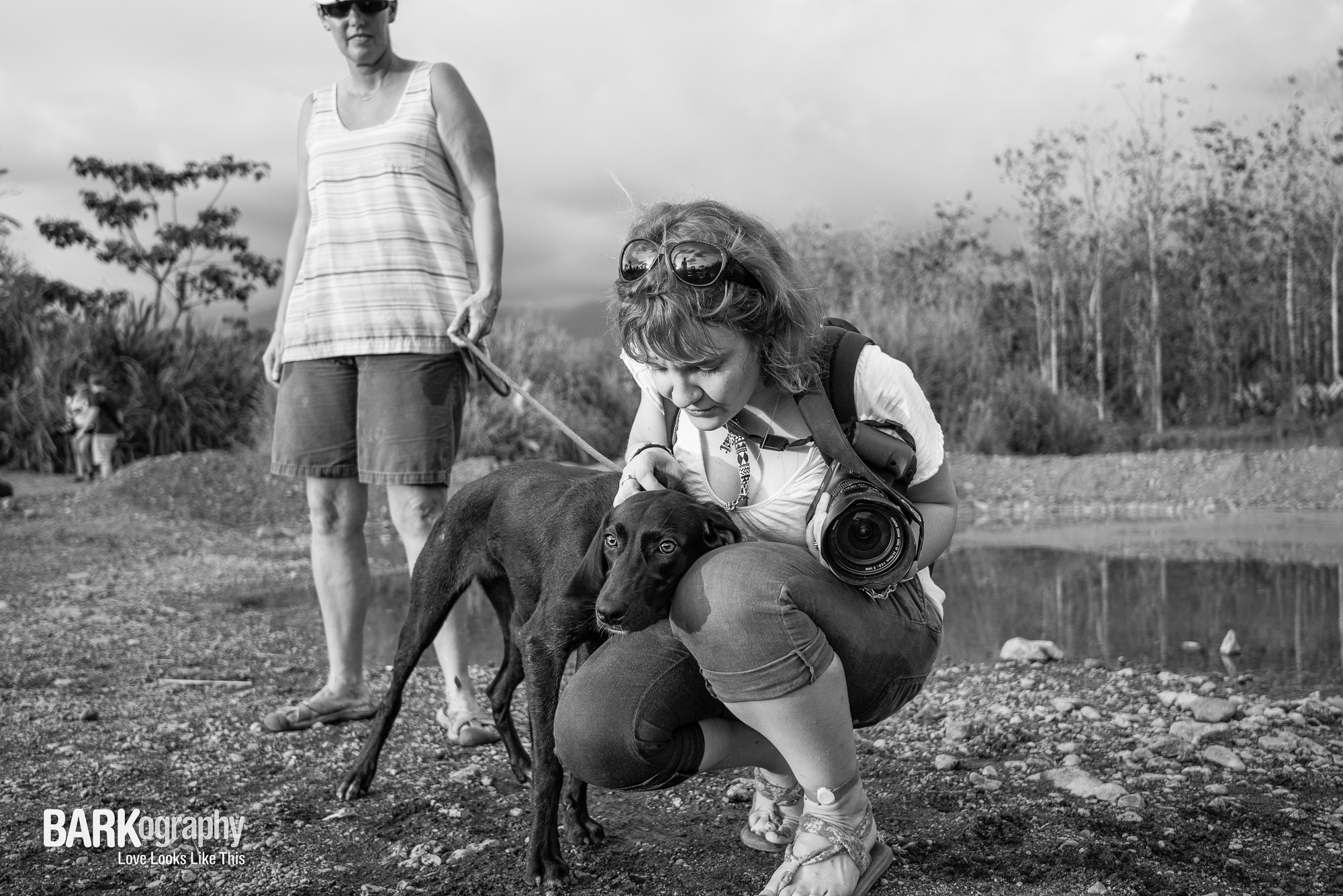 Coco the lost soul and photographer Bridget Davey.JPG