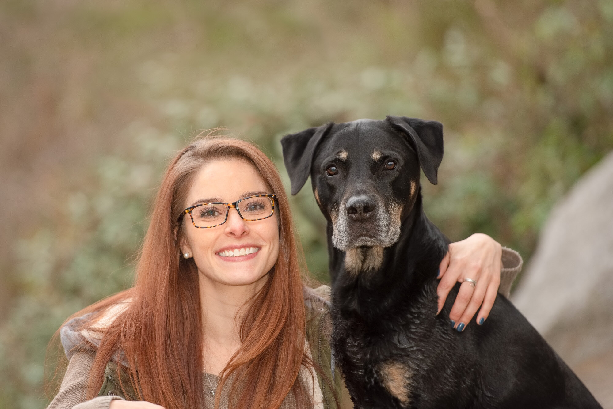 veterinarian and her dog