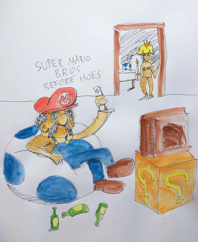 Super Mario bros. before hoes